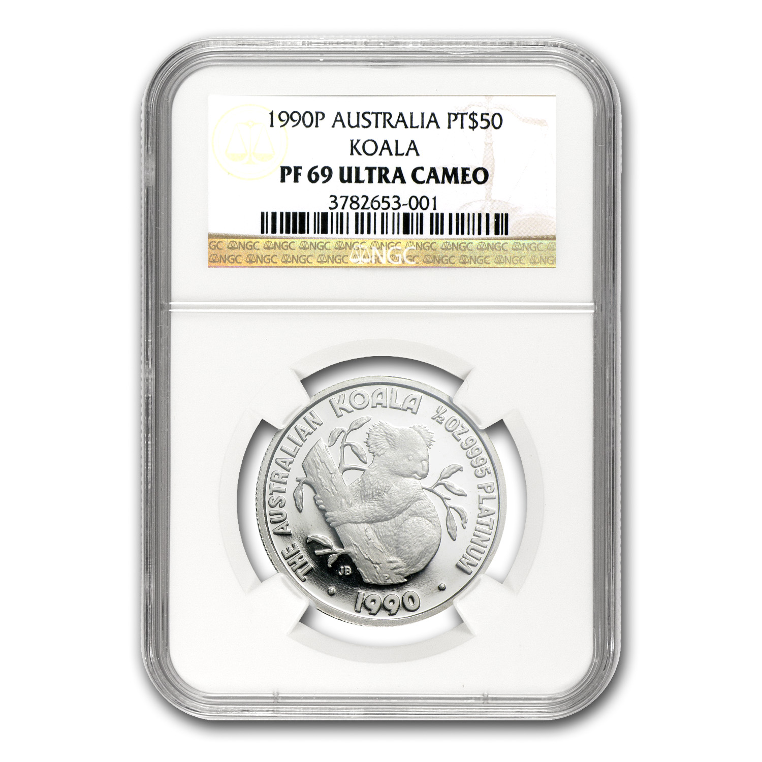 1990 Australia 1/2 oz Proof Platinum Koala PF-69 NGC