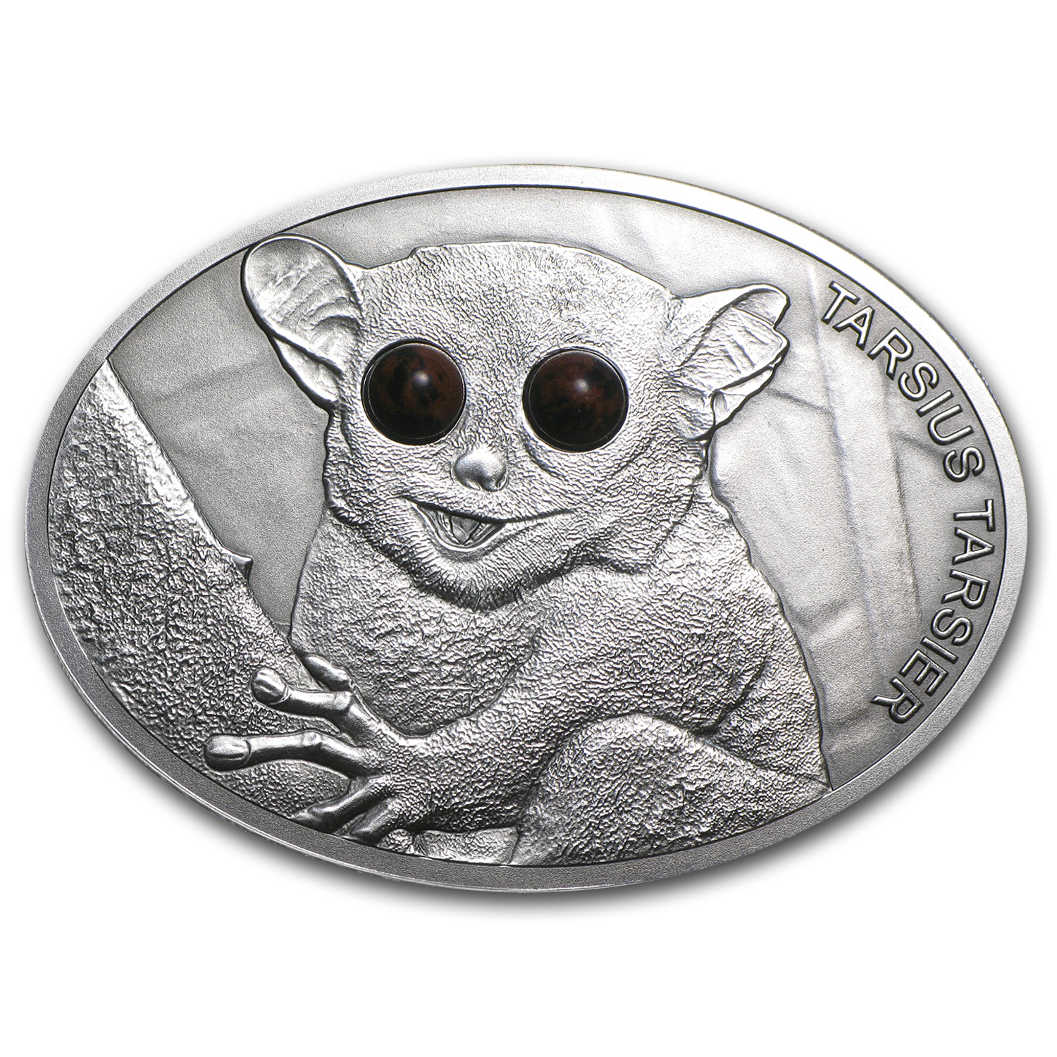 2013 Fiji 1 oz Silver Fascinating Wildlife Maki Tarsius Tarsier