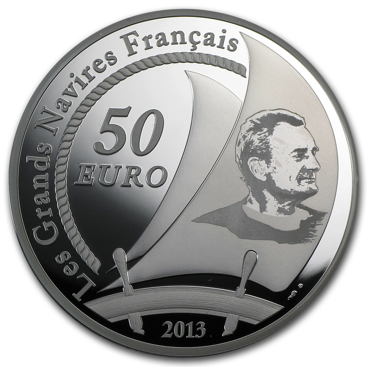 2013 5 oz Silver €50 Great French Ships Proof (Pen Duick)