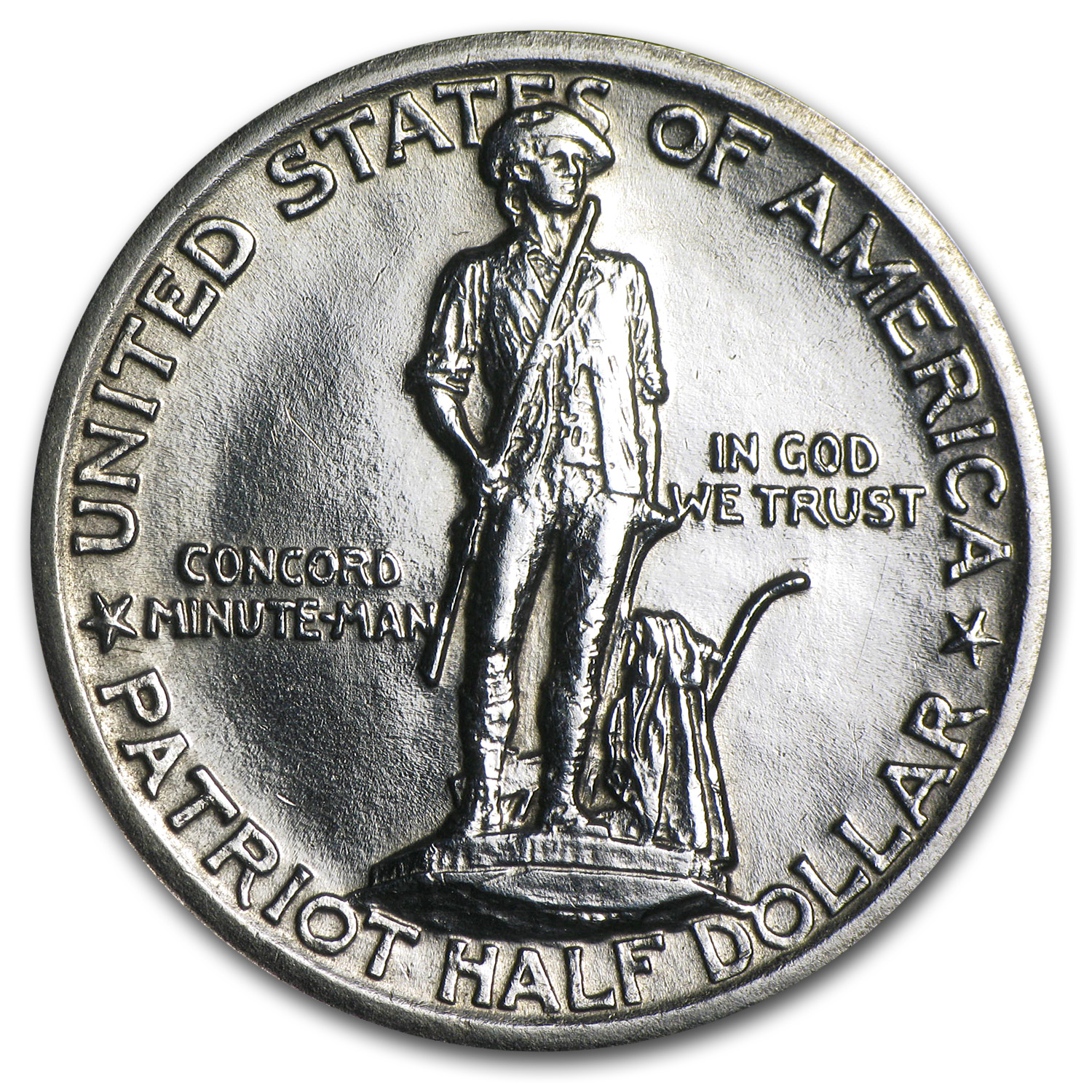 1925 Lexington-Concord Sesquicentennial Half AU (Cleaned)