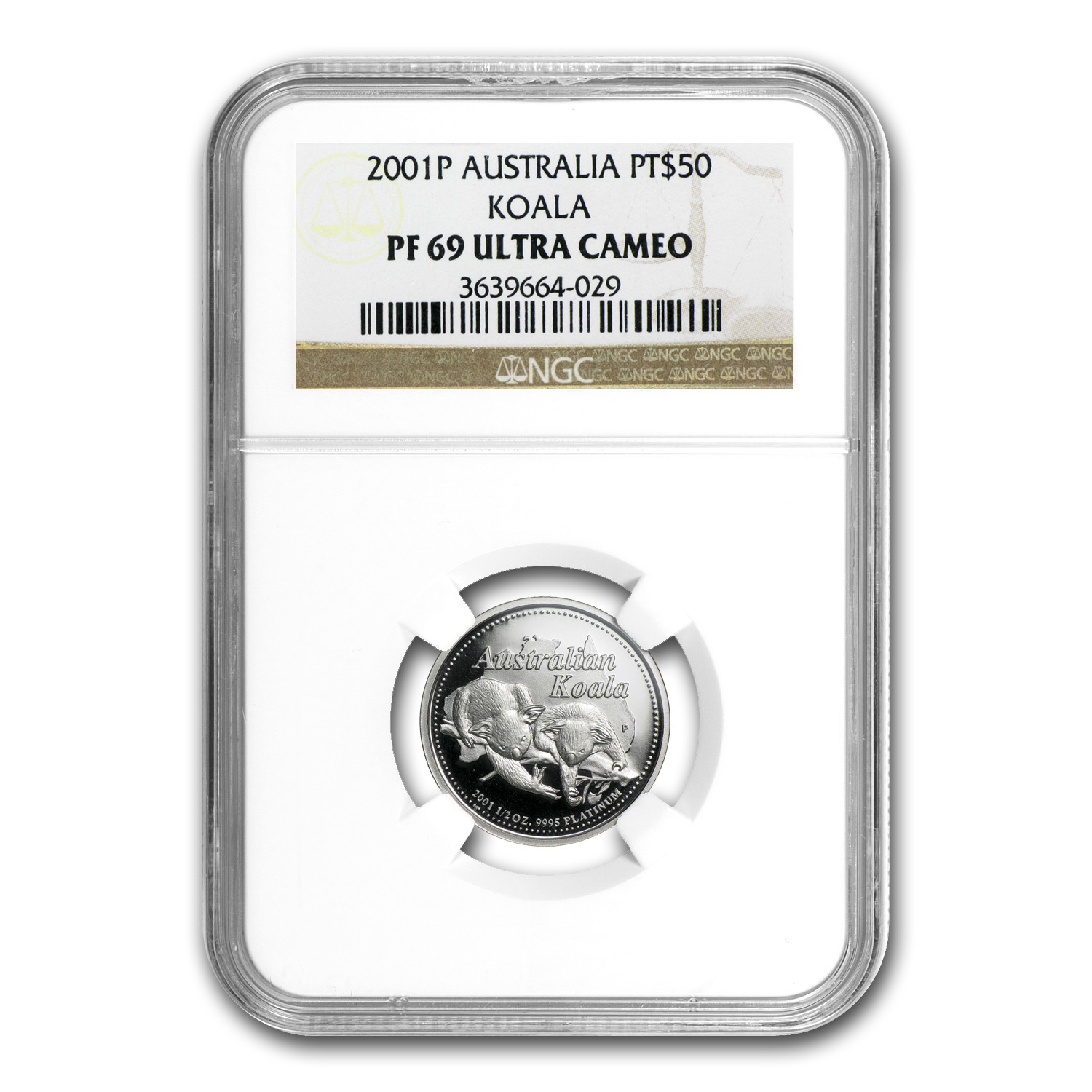 2001 Australia 1/2 oz Proof Platinum Koala PF-69 NGC