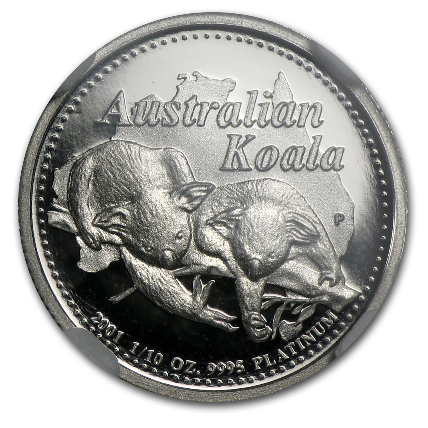 2001 Australia 1/10 oz Proof Platinum Koala PF-70 NGC