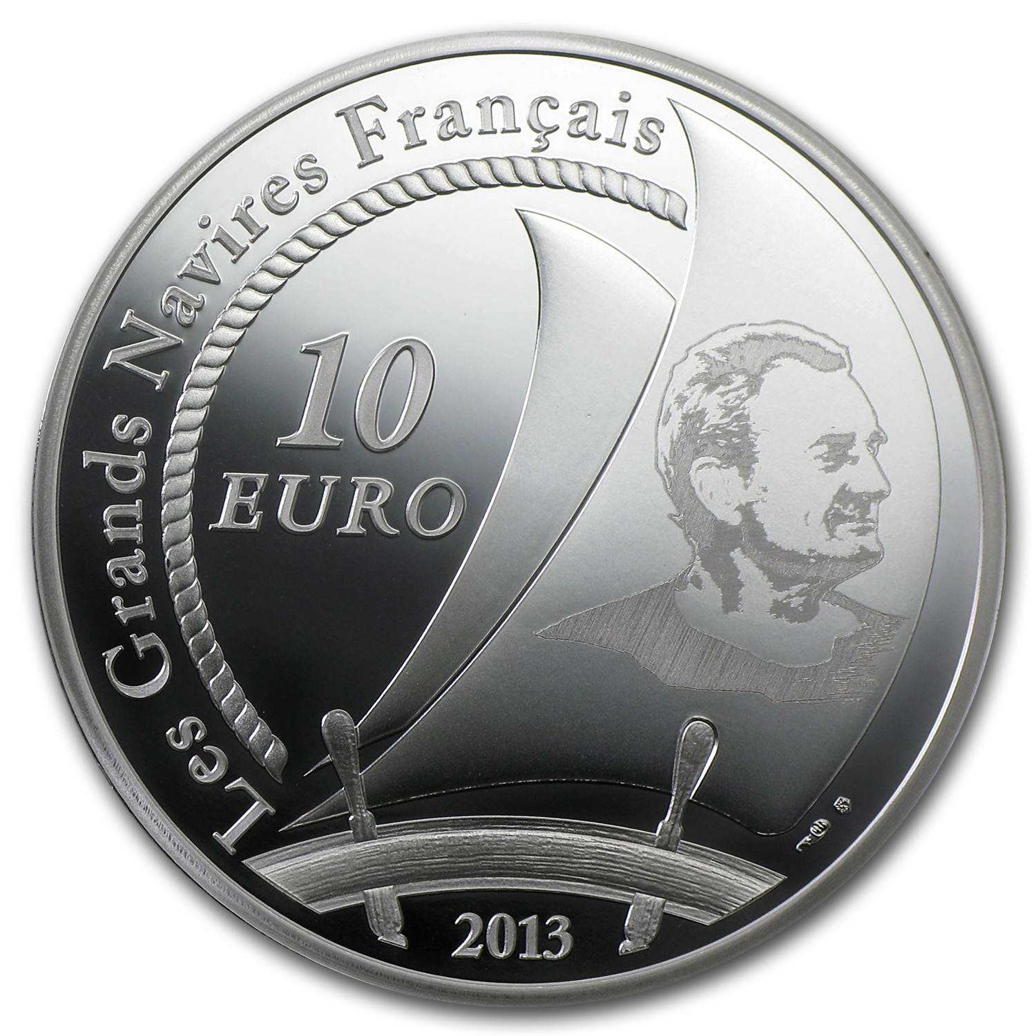 2013 €10 Silver Proof Great French Ships - Pen Duick