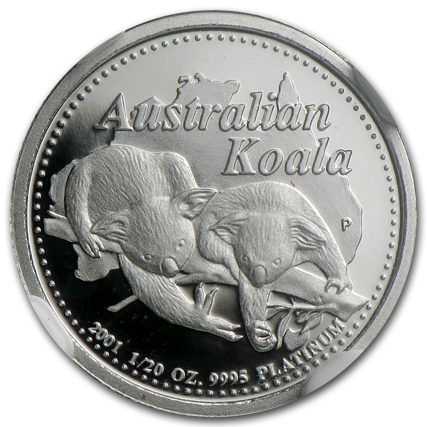 2001 Australia 1/20 oz Proof Platinum Koala PF-70 NGC