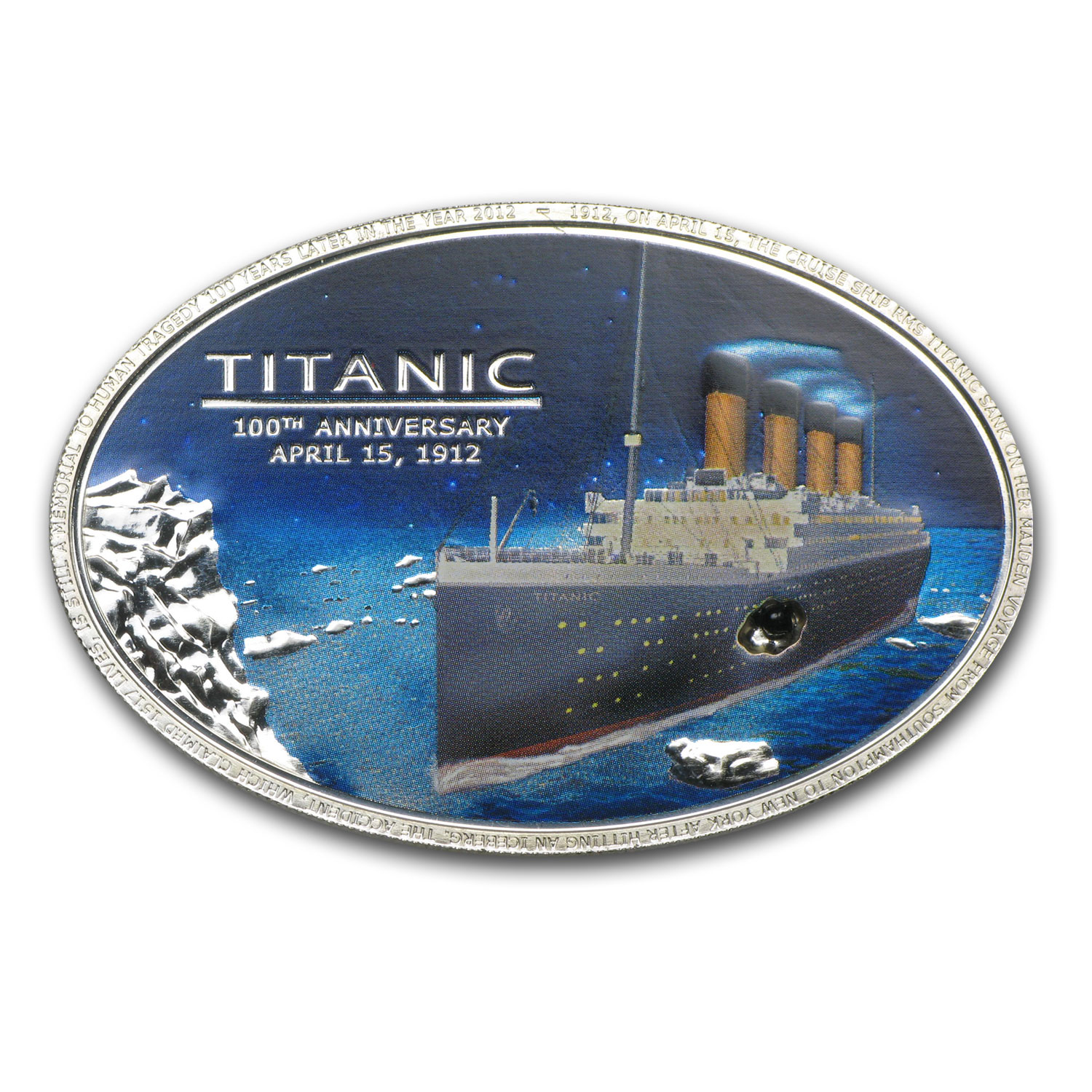 2012 Cook Islands Silver $5 Anniversary of the Titanic