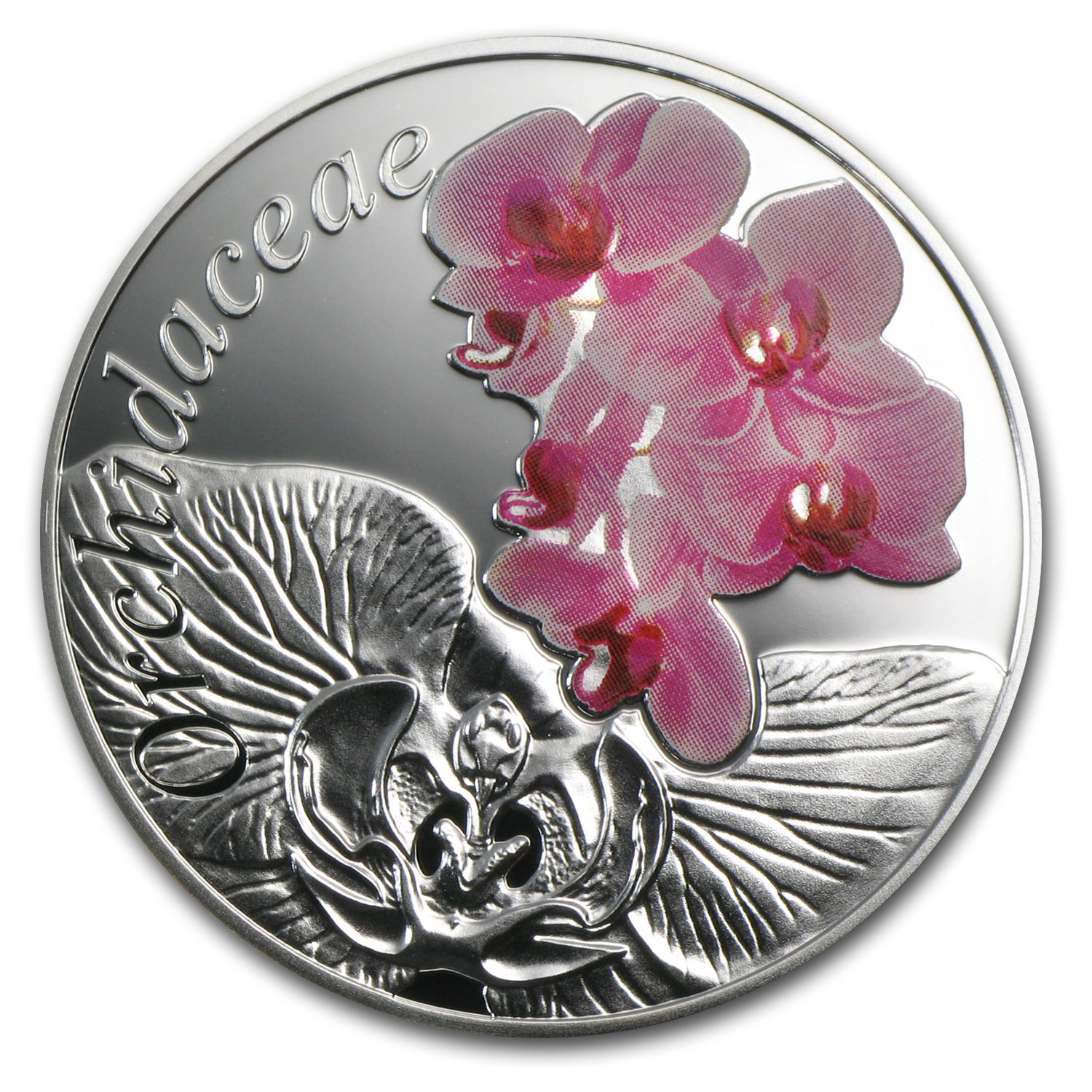2013 Belarus Silver Proof Under the Charm of Flowers Orchid