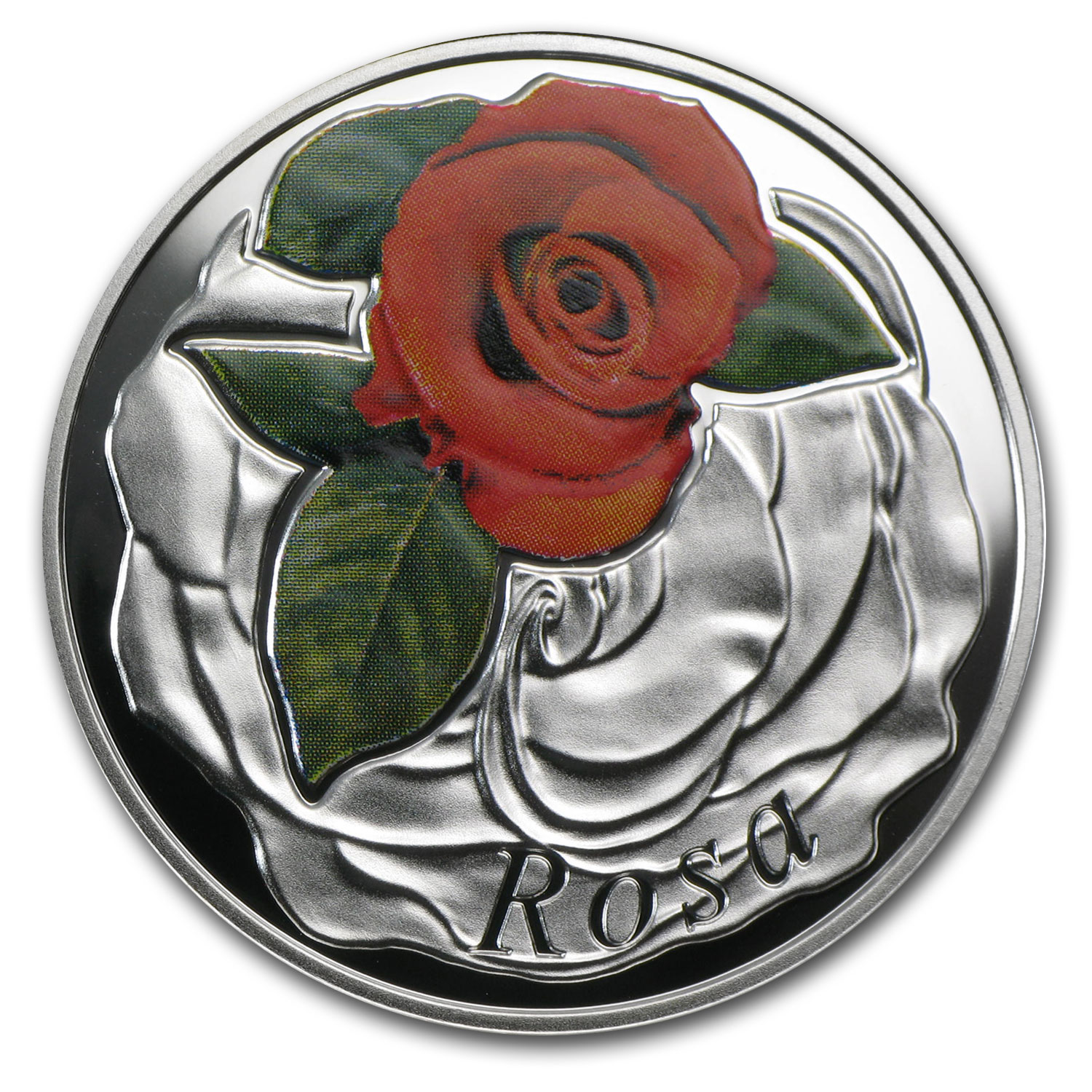 2013 Belarus Silver Proof Under the Charm of Flowers Rose