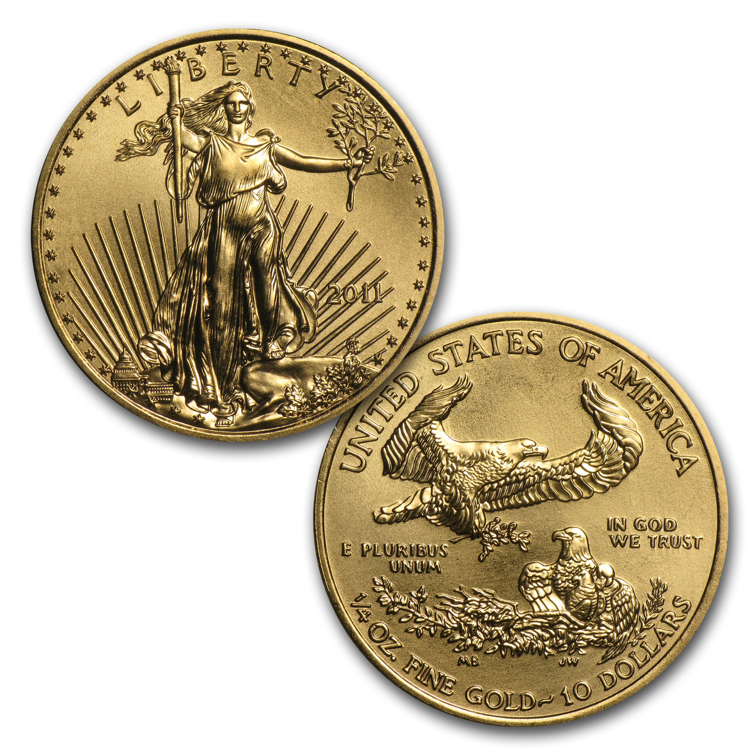 1986-2014 29-Coin 1/4 oz Gold Eagle Set BU (Dansco Album)