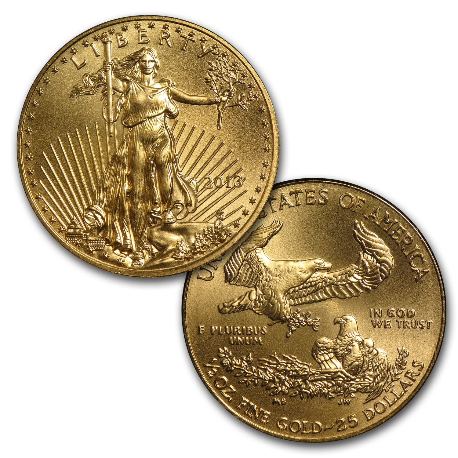 1986-2013 28-Coin 1/2 oz Gold Eagle Set BU