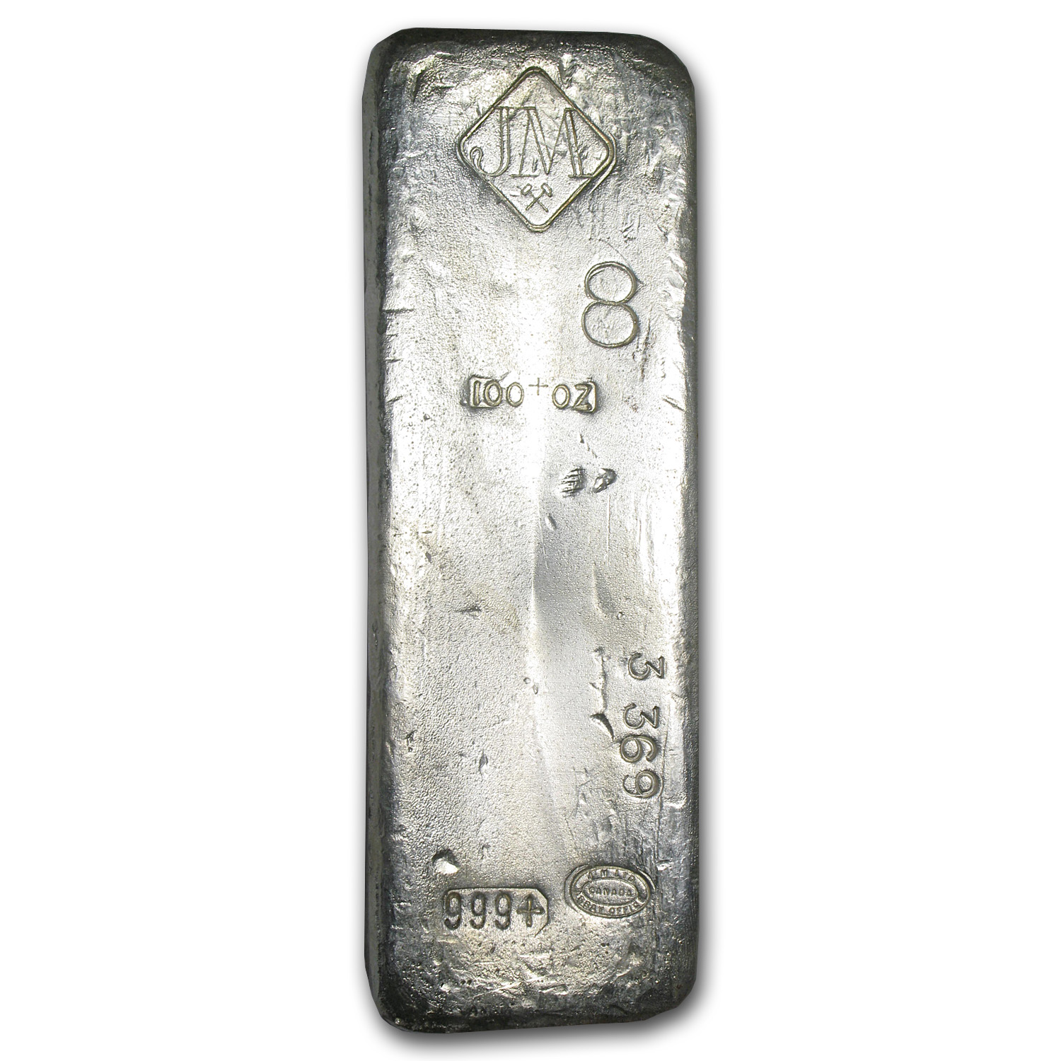 100 oz Silver Bars - Johnson Matthey (Vintage/Canada)