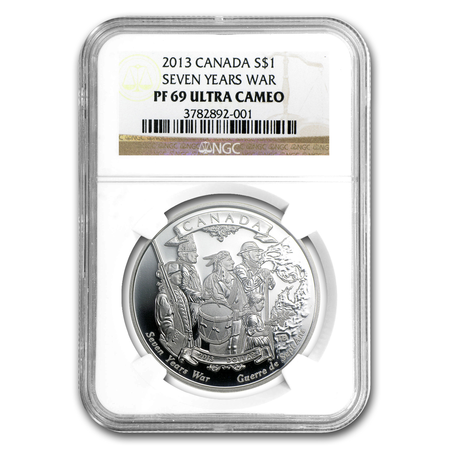 2013 Canada Silver $1 End of the Seven Years War PF-69 NGC