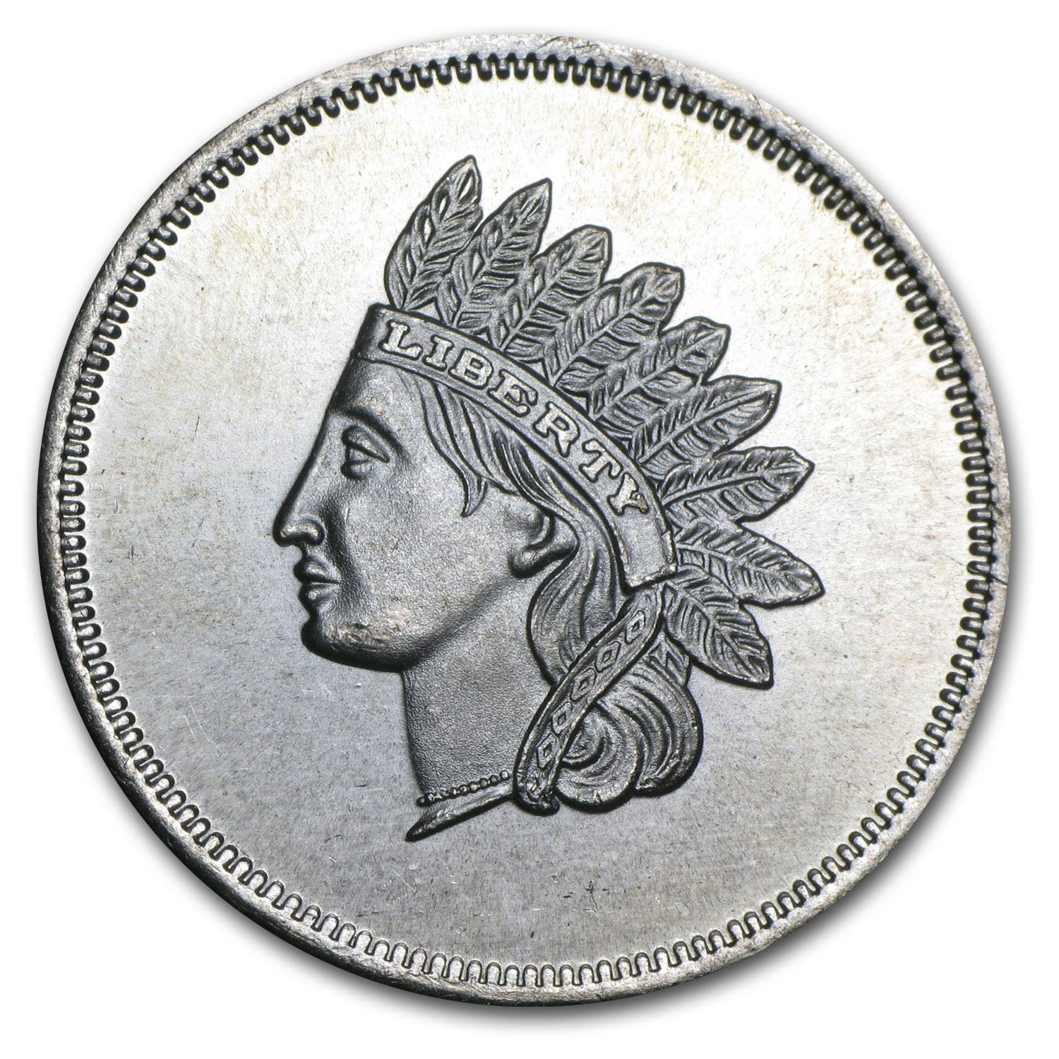 1 oz Silver Round - Indian Head Cent (Replica)