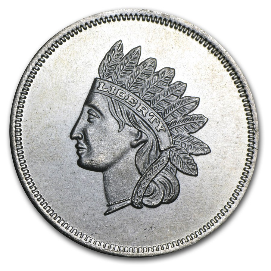 1 Oz Silver Round Indian Head Cent Replica 1 Oz
