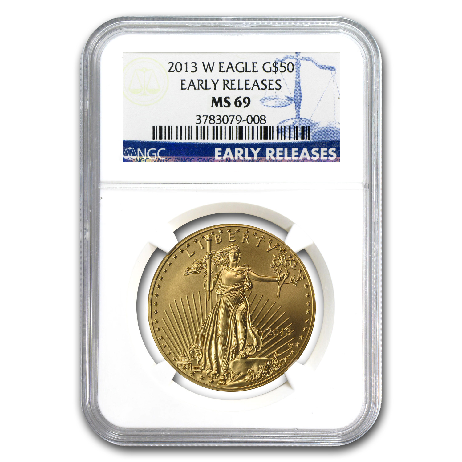 2013-W 1 oz Burnished Gold Eagle MS-69 PCGS (ER)