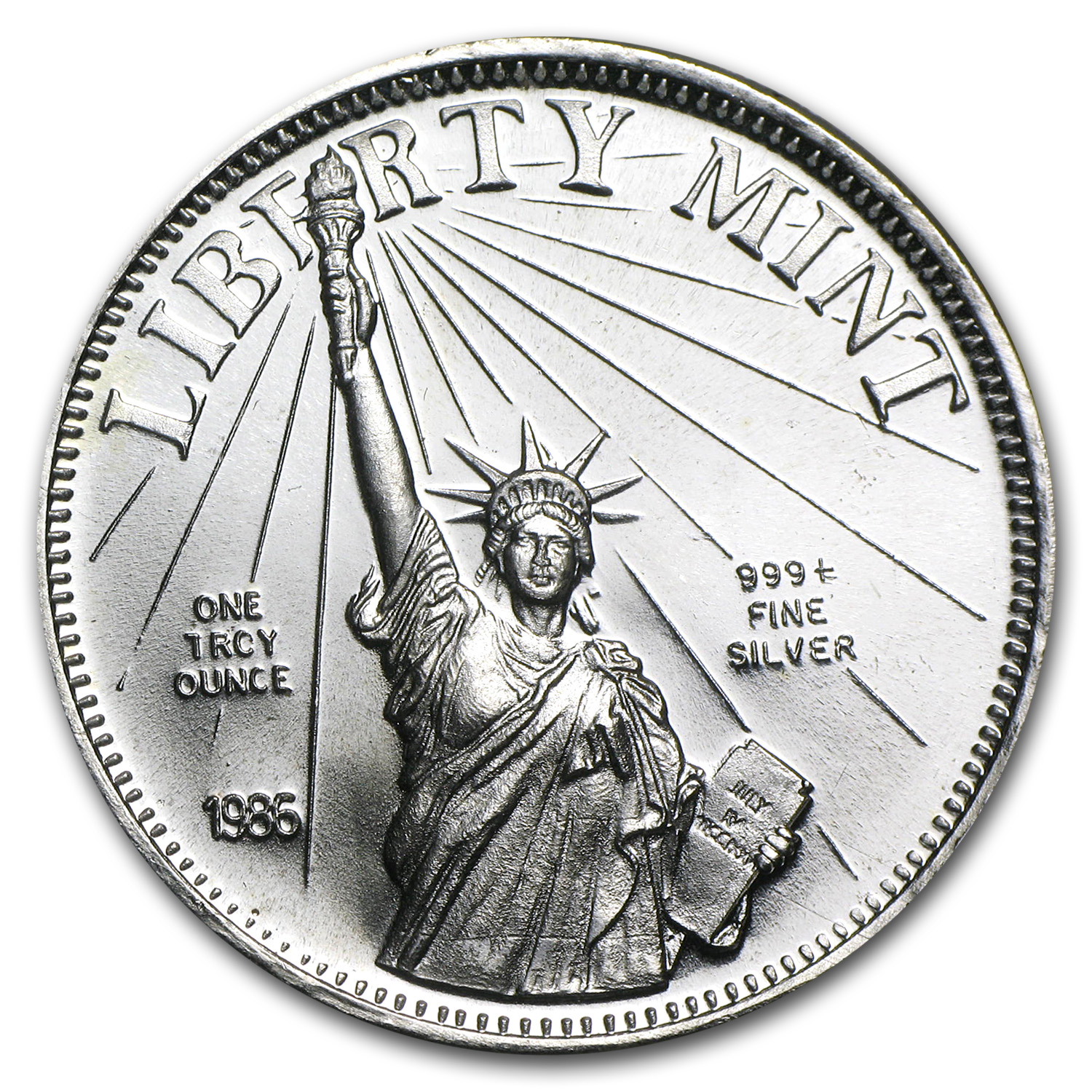 1 Oz Silver Round Liberty Mint 1 Oz Silver Rounds