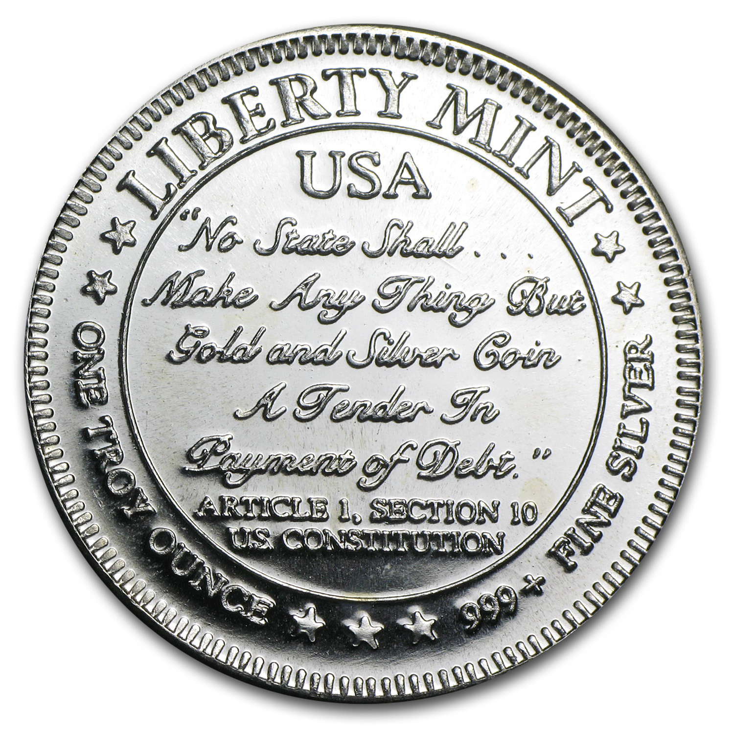 1 oz Silver Rounds - Liberty Mint