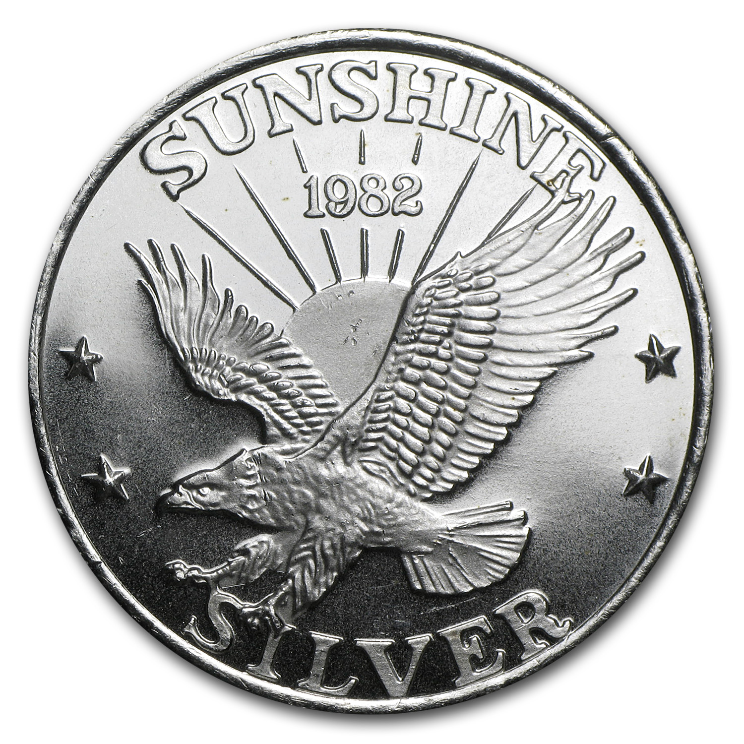 1 oz Silver Round - Sunshine Mining (Vintage, Dated)