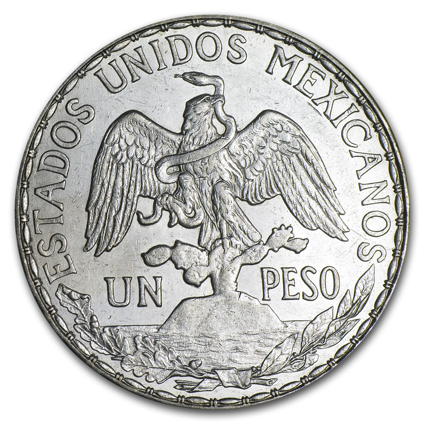 Mexico 1911 Peso Silver Caballito XF or Better