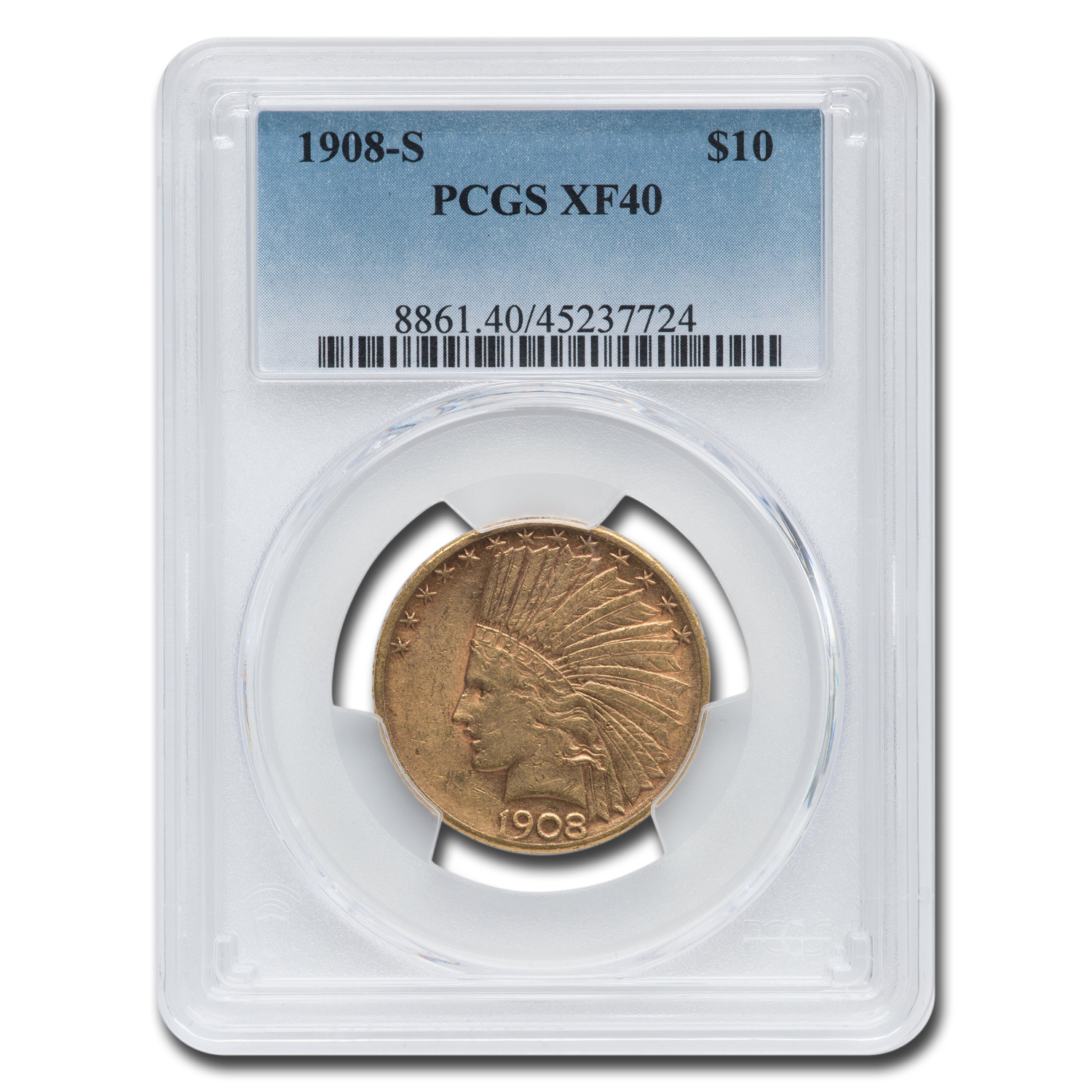 1908-S $10 Indian Gold Eagle XF-40 PCGS