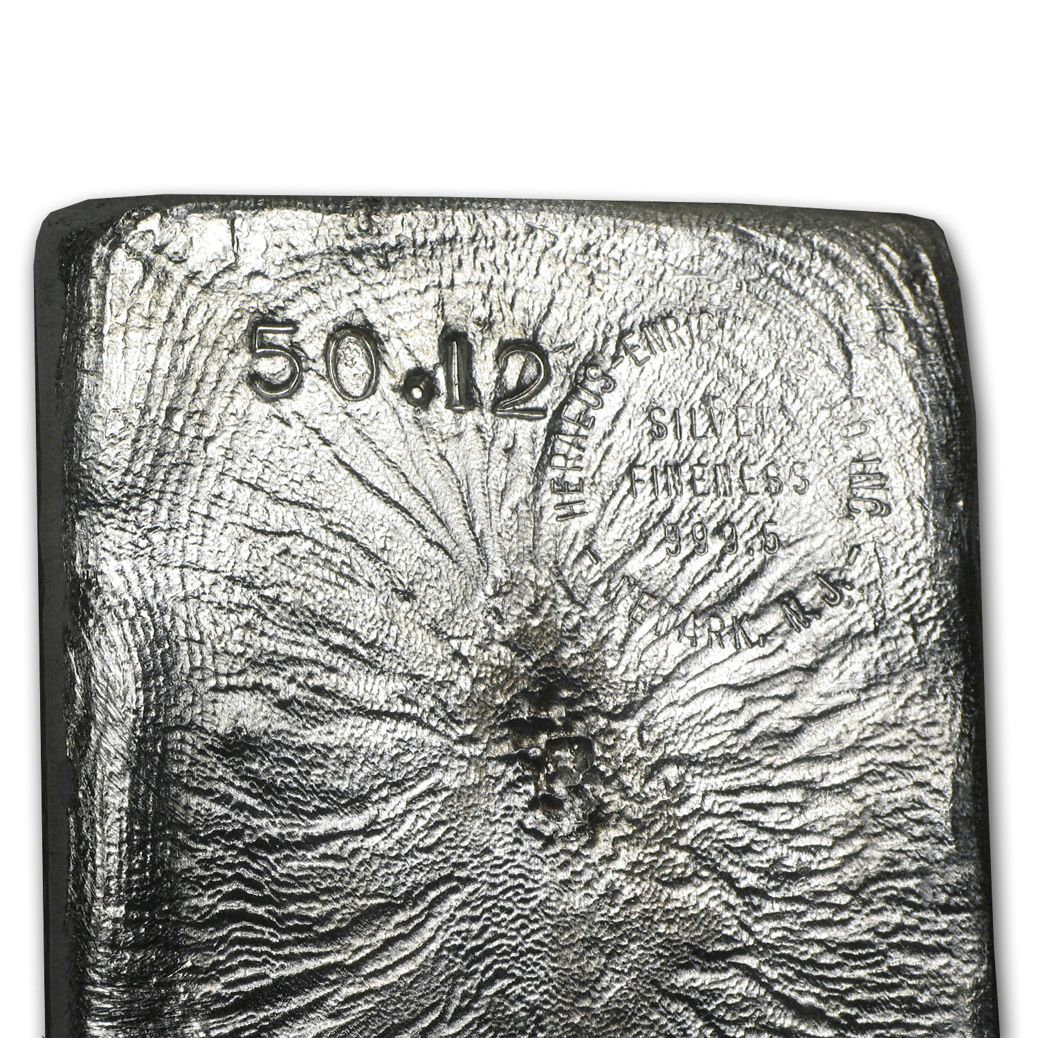 50.12 oz Silver Bar - Heraeus (Poured)