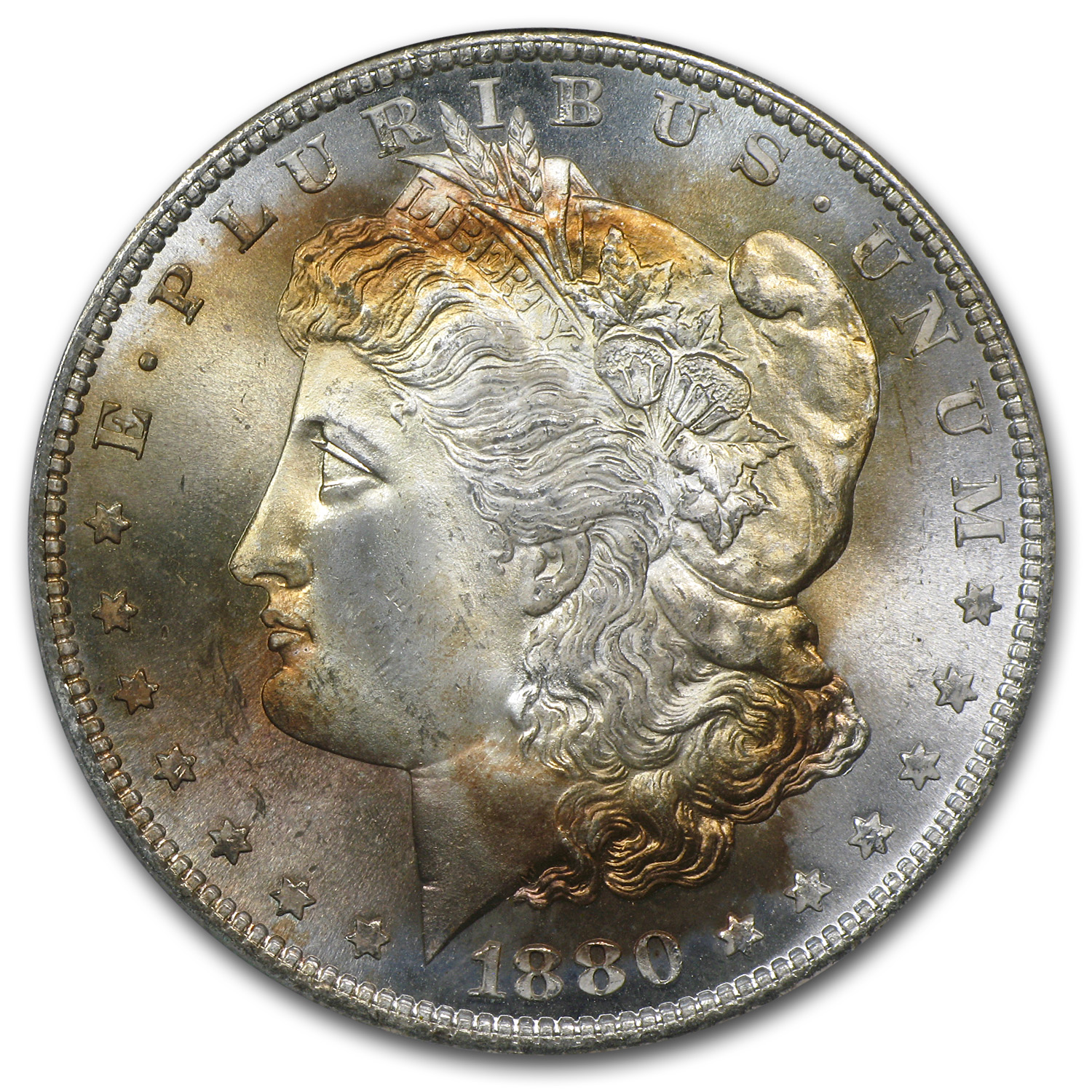 1878-1904 Morgan Dollars - MS-66 PCGS (Beautifully Toned)