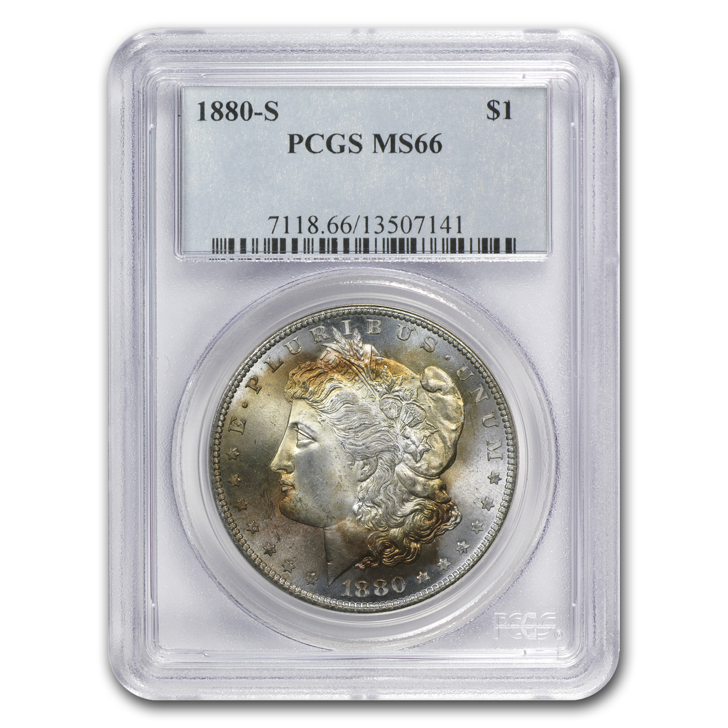 1878-1904 Morgan Dollars MS-66 PCGS (Beautifully Toned)