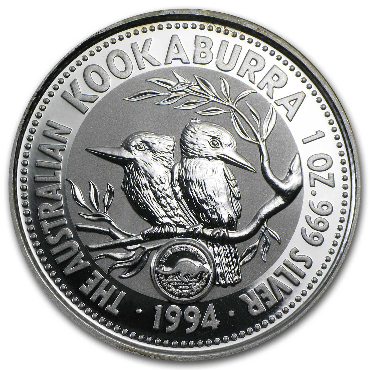 1994 1 oz Silver Kookaburra BU (Games Privy, In Capsule)