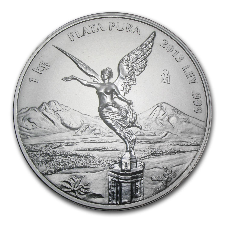 Kilo Silvers: 2013 Mexico 1 Kilo Silver Libertad Proof Like (w/Box & COA