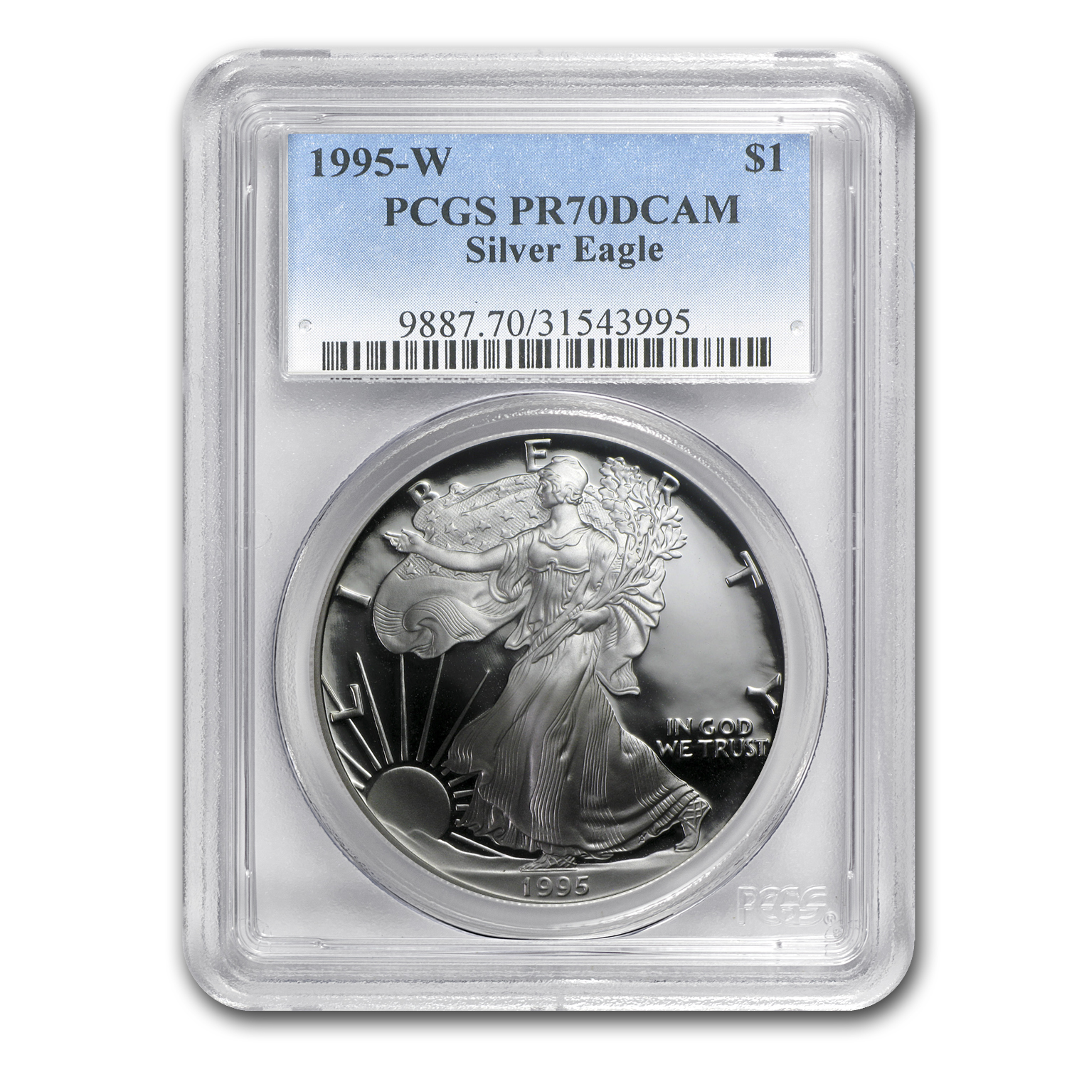 1995-W Proof Silver American Eagle PR-70 PCGS (Registry Set)