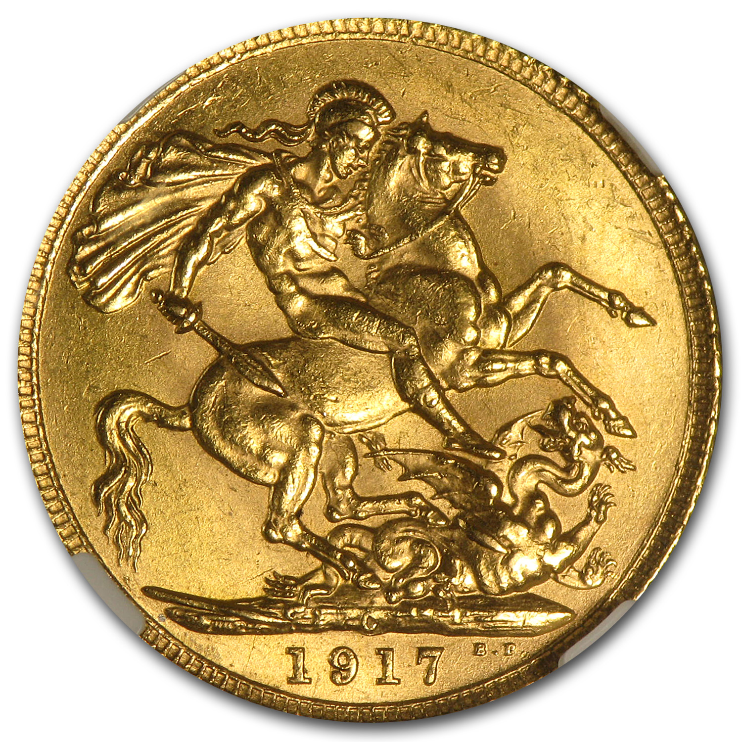 1917-C Canada Gold Sovereign MS-63 NGC