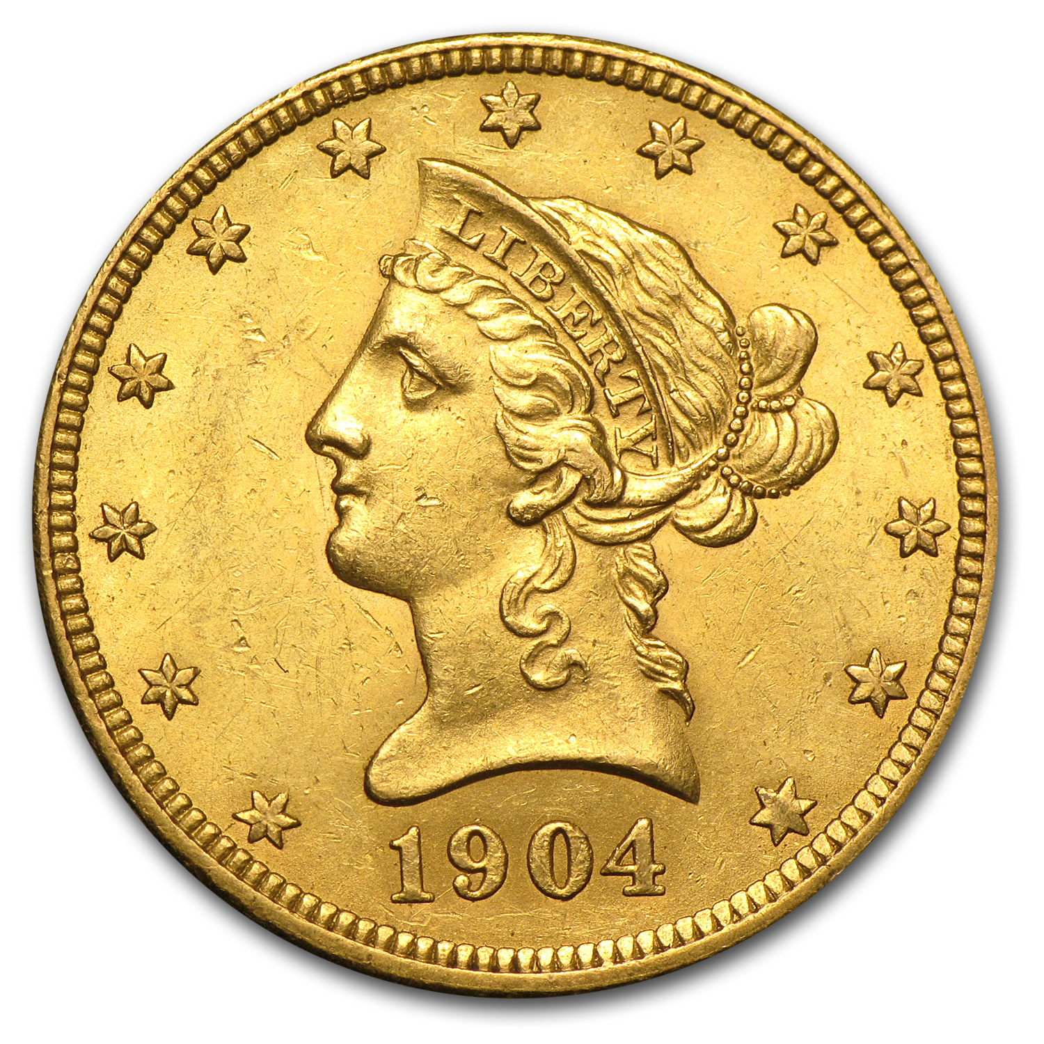 1904-O $10 Liberty Gold Eagle AU