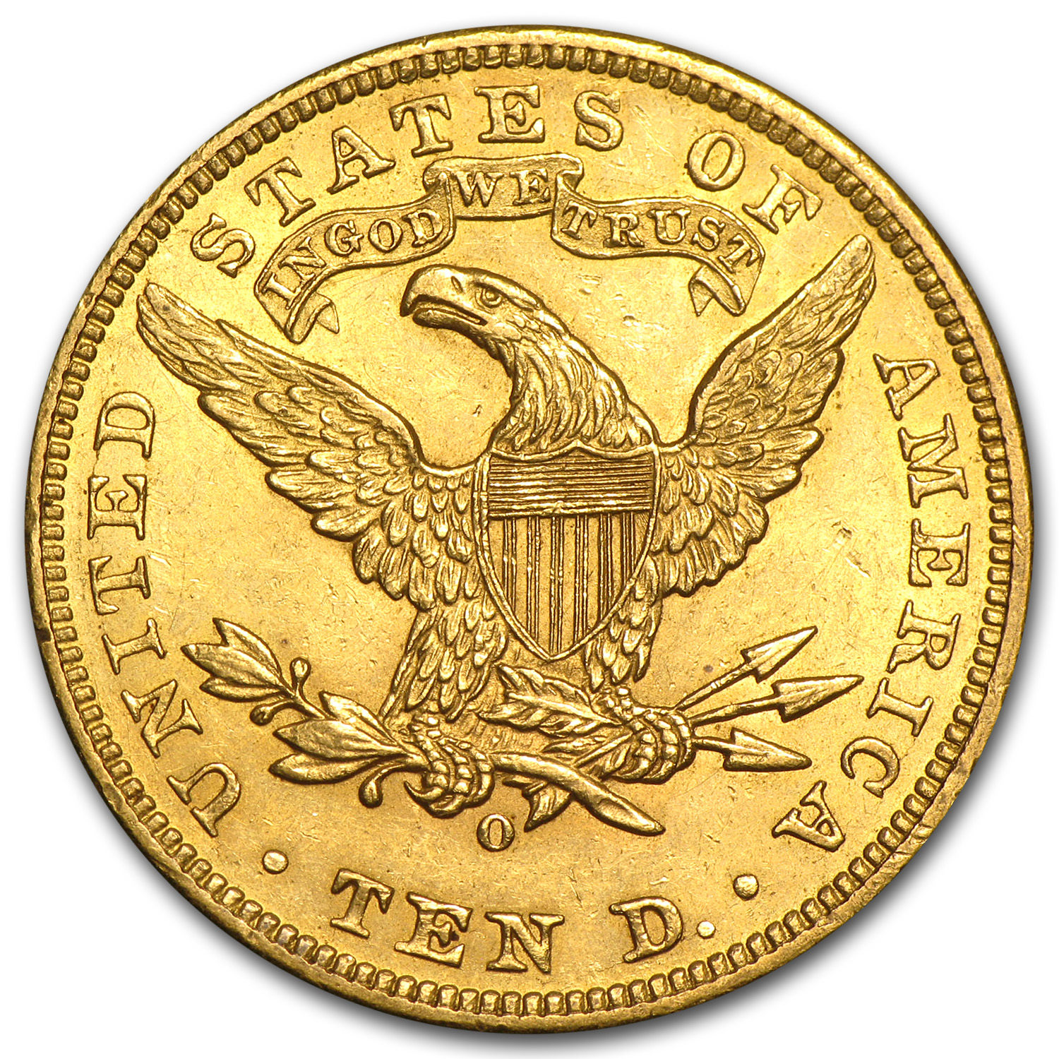 1904-O $10 Liberty Gold Eagle Almost Uncirculated
