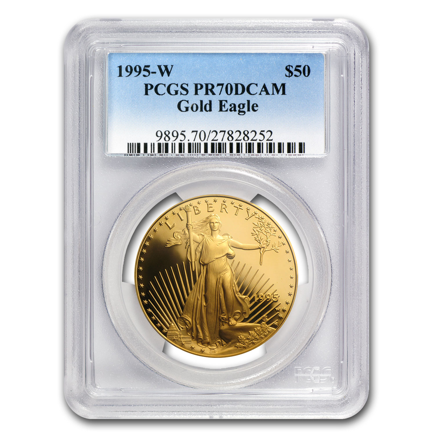1995-W 5-Coin Proof Gold & Silver American Eagle Set PR-70 PCGS
