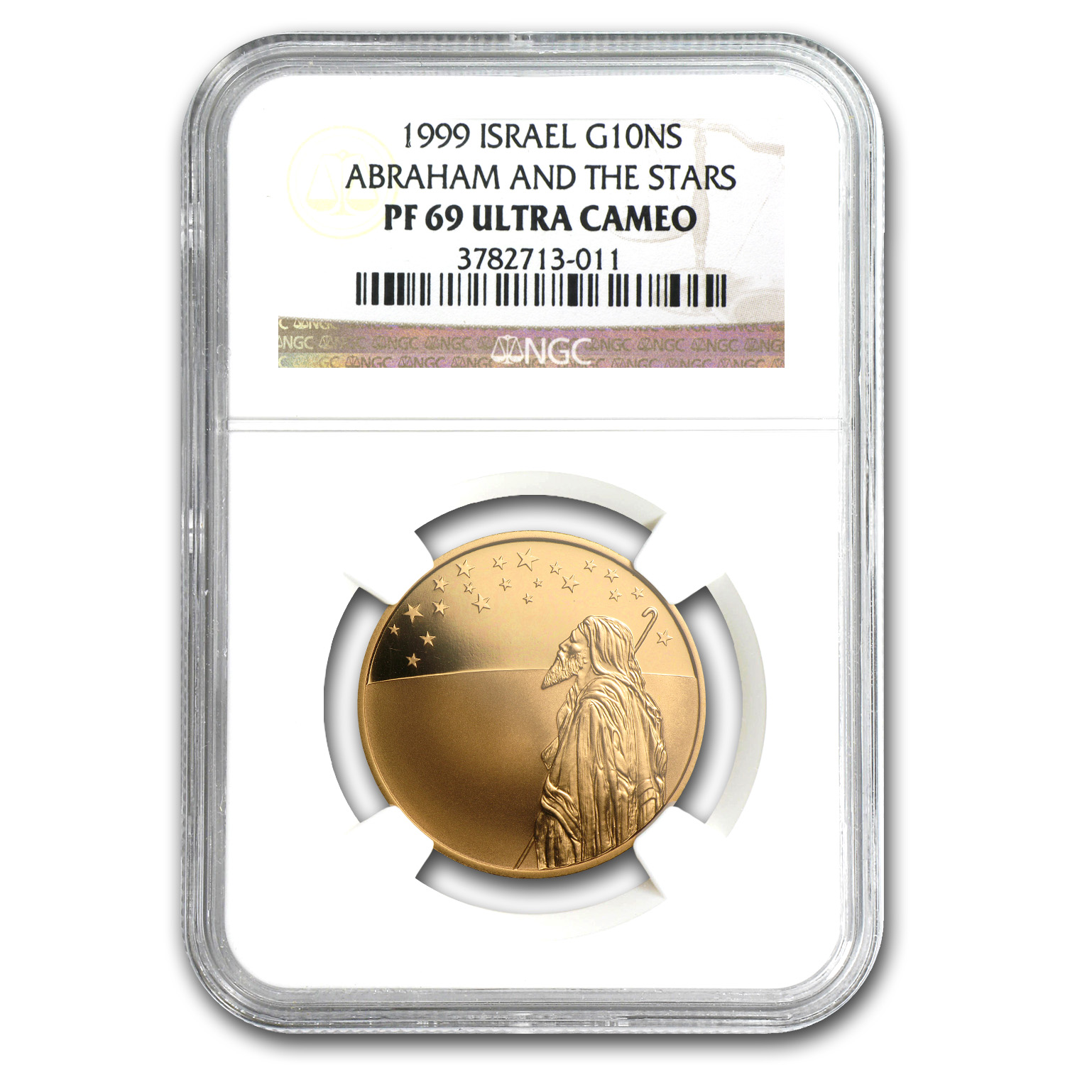1999 Israel 1/2 oz Proof Gold Abraham and the Stars PF-69 NGC