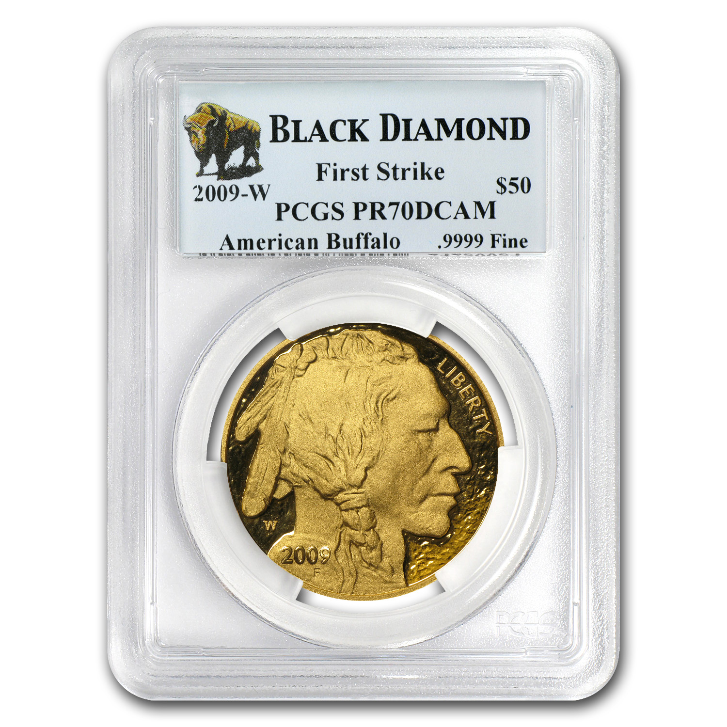 2009-W 1 oz Proof Gold Buffalo PR-70 PCGS (FS, Black Diamond)