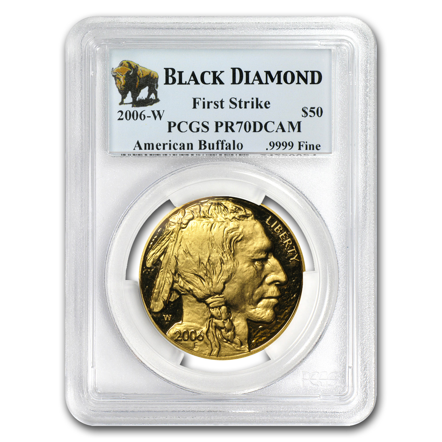 2006-W 1 oz Proof Gold Buffalo PR-70 PCGS (FS, Black Diamond)