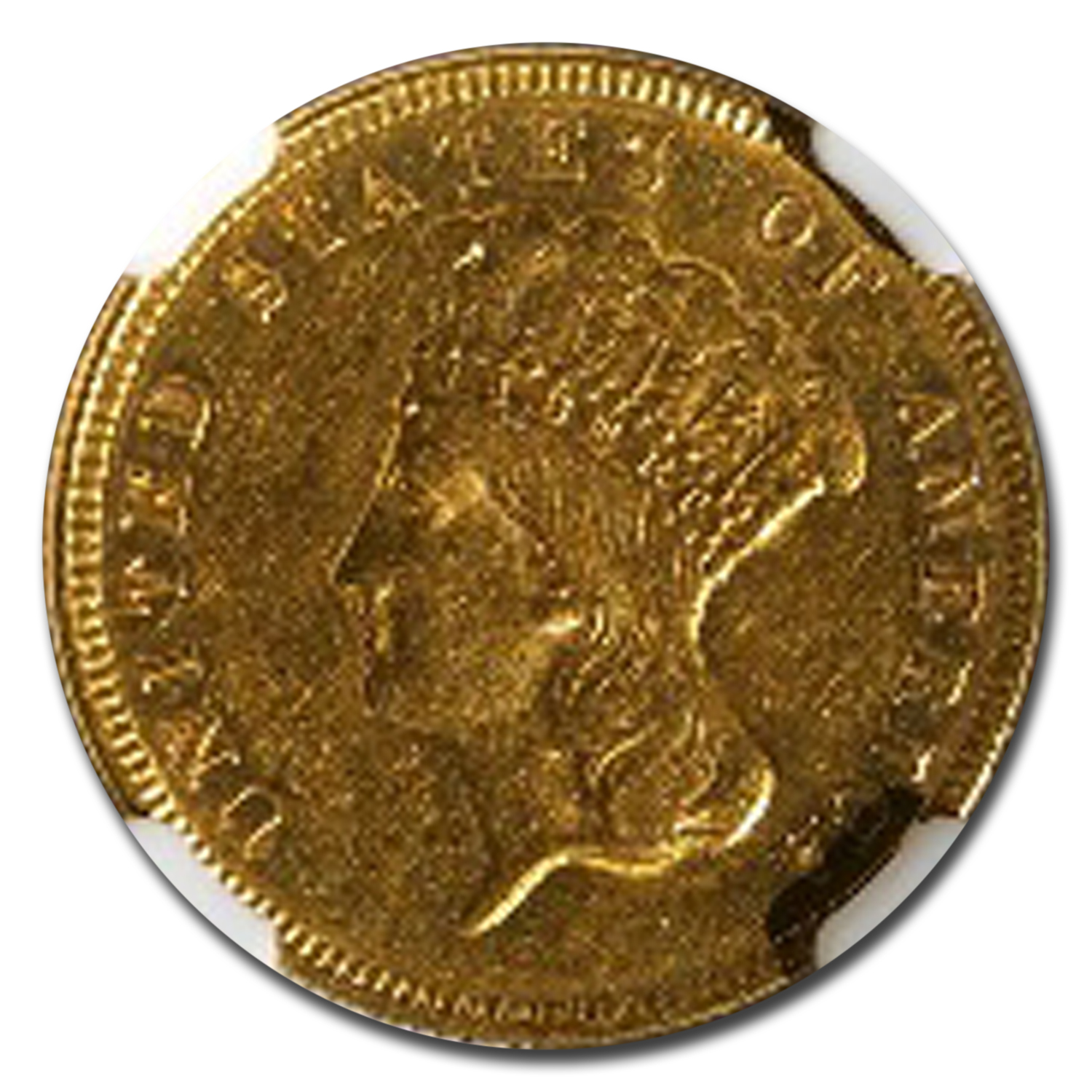 1874 $3 Gold Princess AU-53 NGC