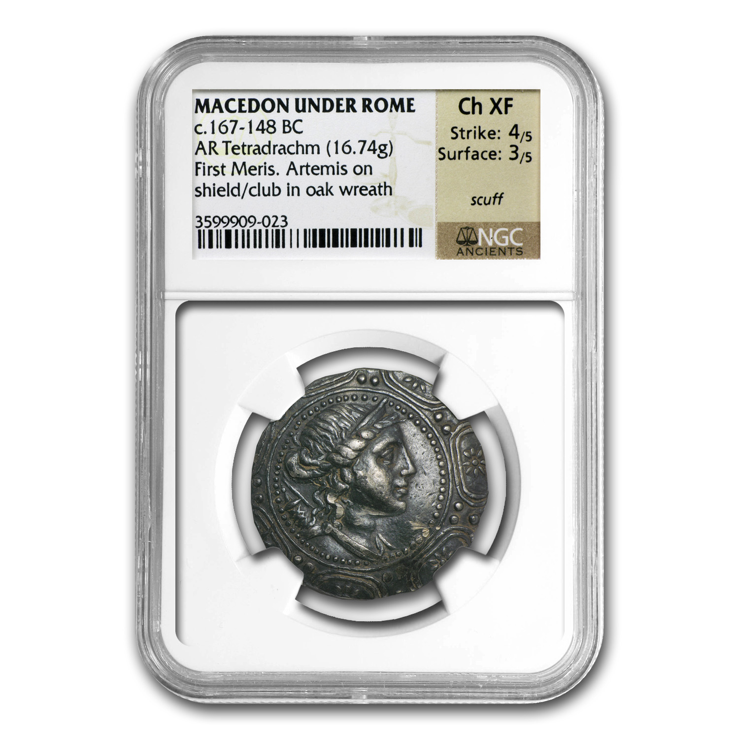 Macedon Under Rome Silver Tetradrachm (167-148BC) NGC ChXF