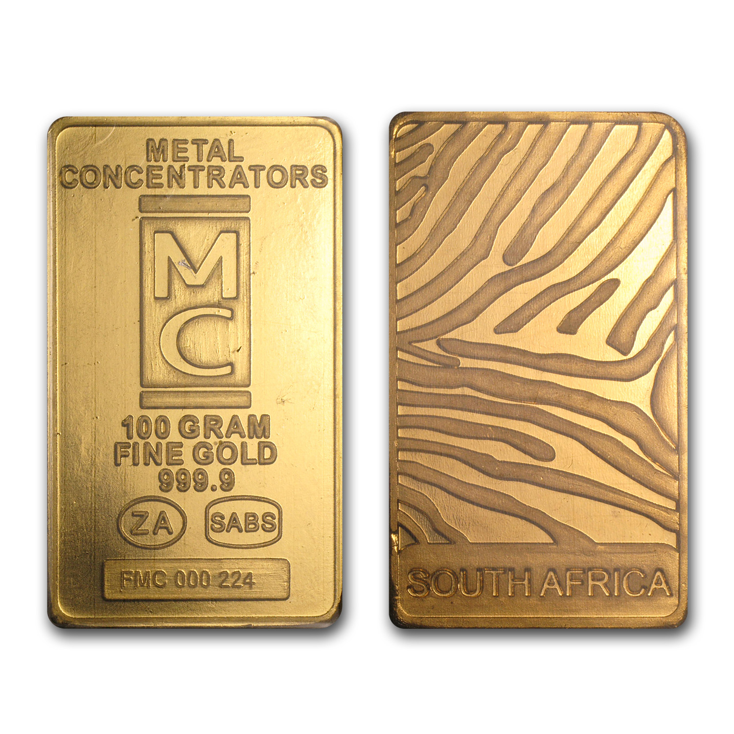 100 gram Gold Bar - South African (MC)