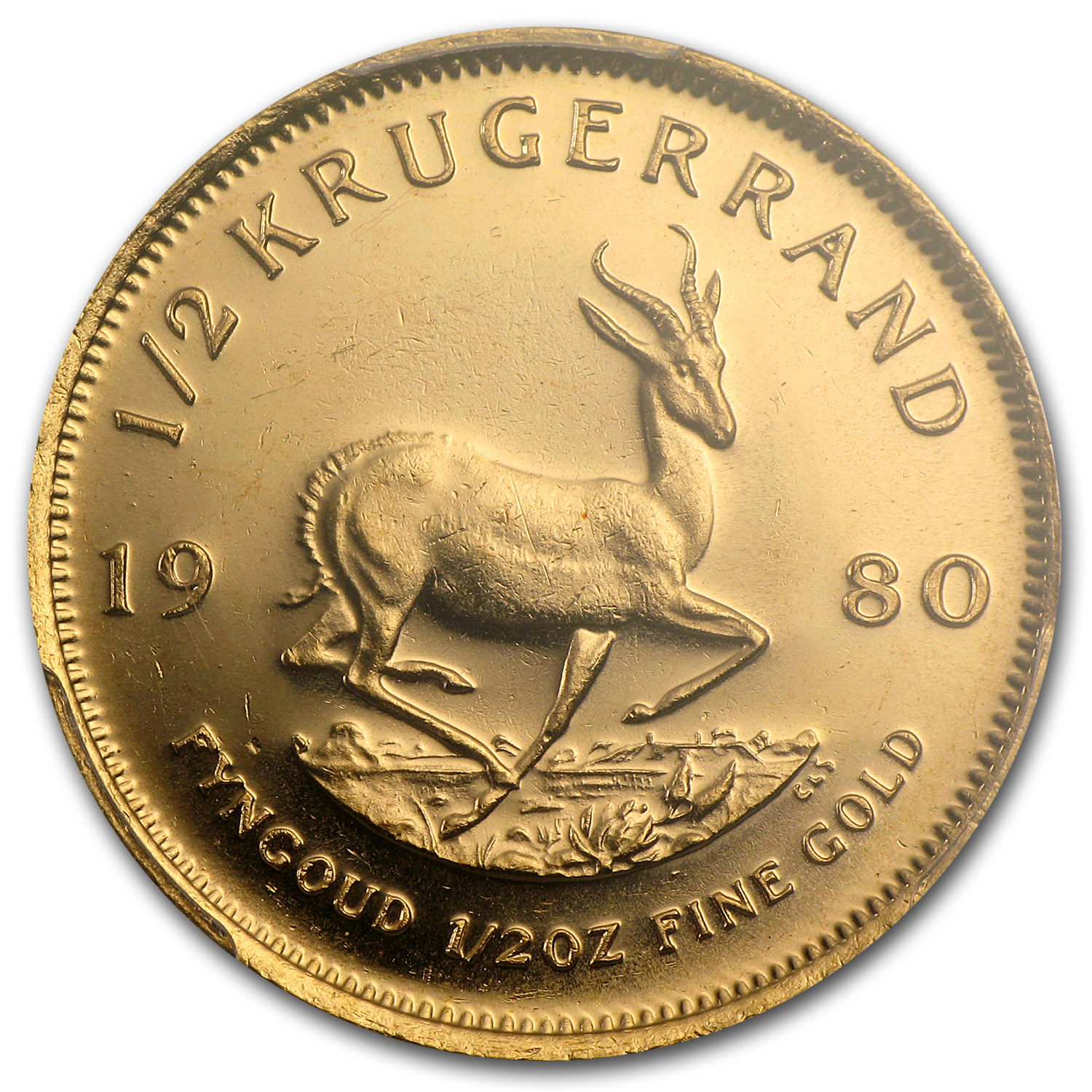 1980 South Africa 1/2 oz Gold Krugerrand MS-67 PCGS (WTC)