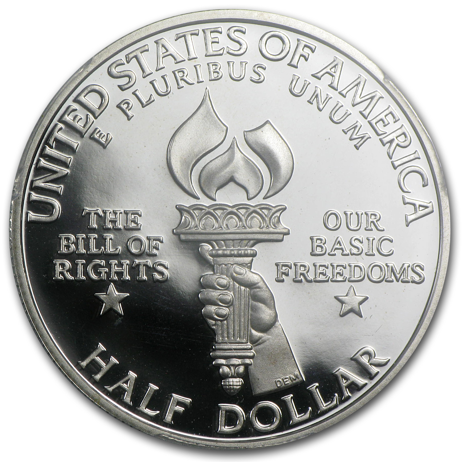 1993-S Bill of Rights 1/2 Dollar Silver Commem PR-70 PCGS