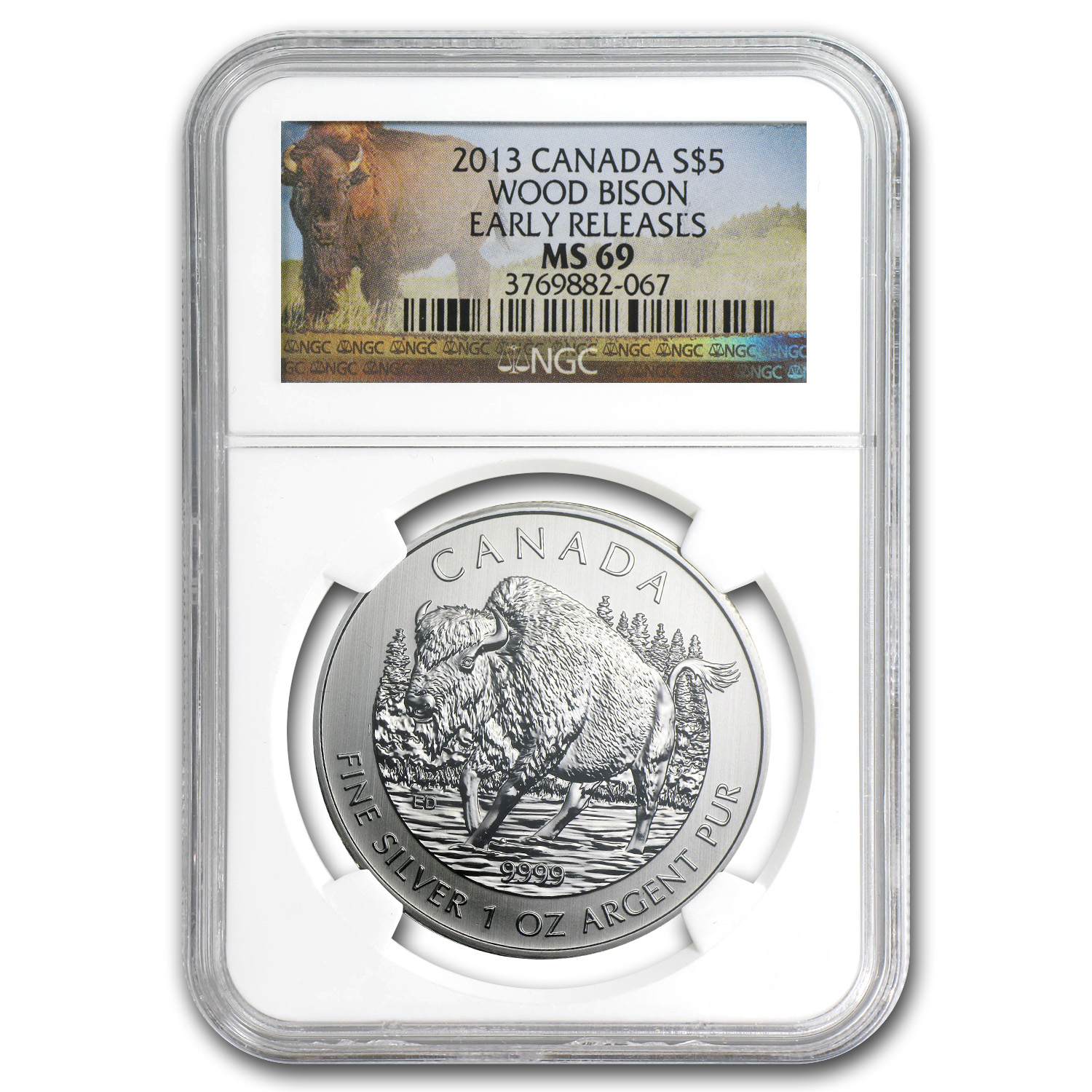 2011-2013 Can 6-Coin 1 oz Silver Wildlife Series Set MS-69 NGC