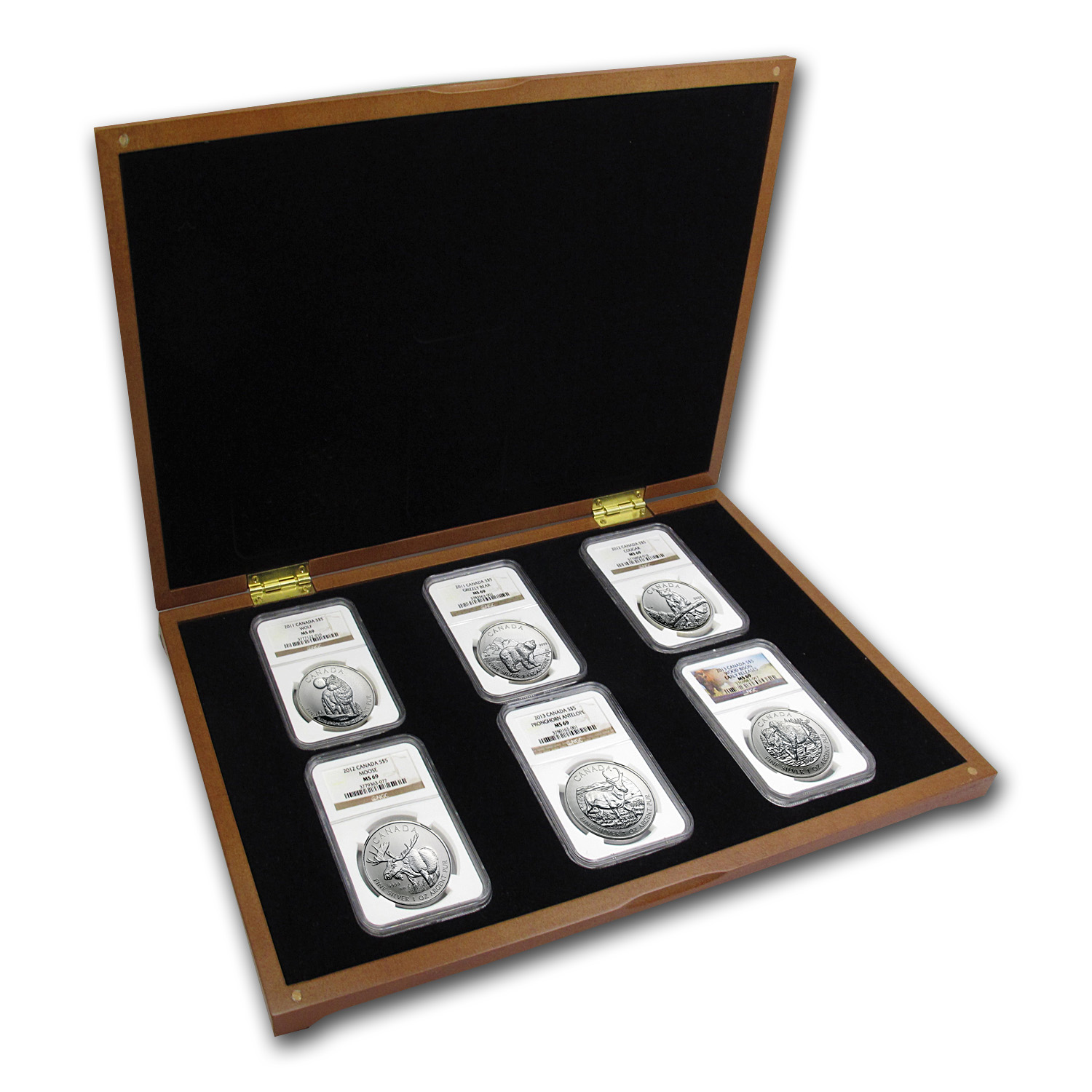 Canadian Wildlife Series-Complete 6 Coin Set - All MS-69 NGC