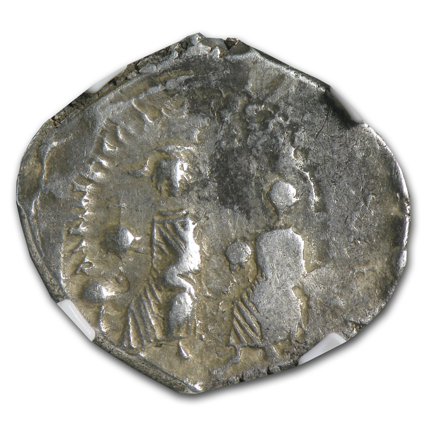 Byzantine Silver HeracIius & H. Constantine NGC-VF (613-641 AD)