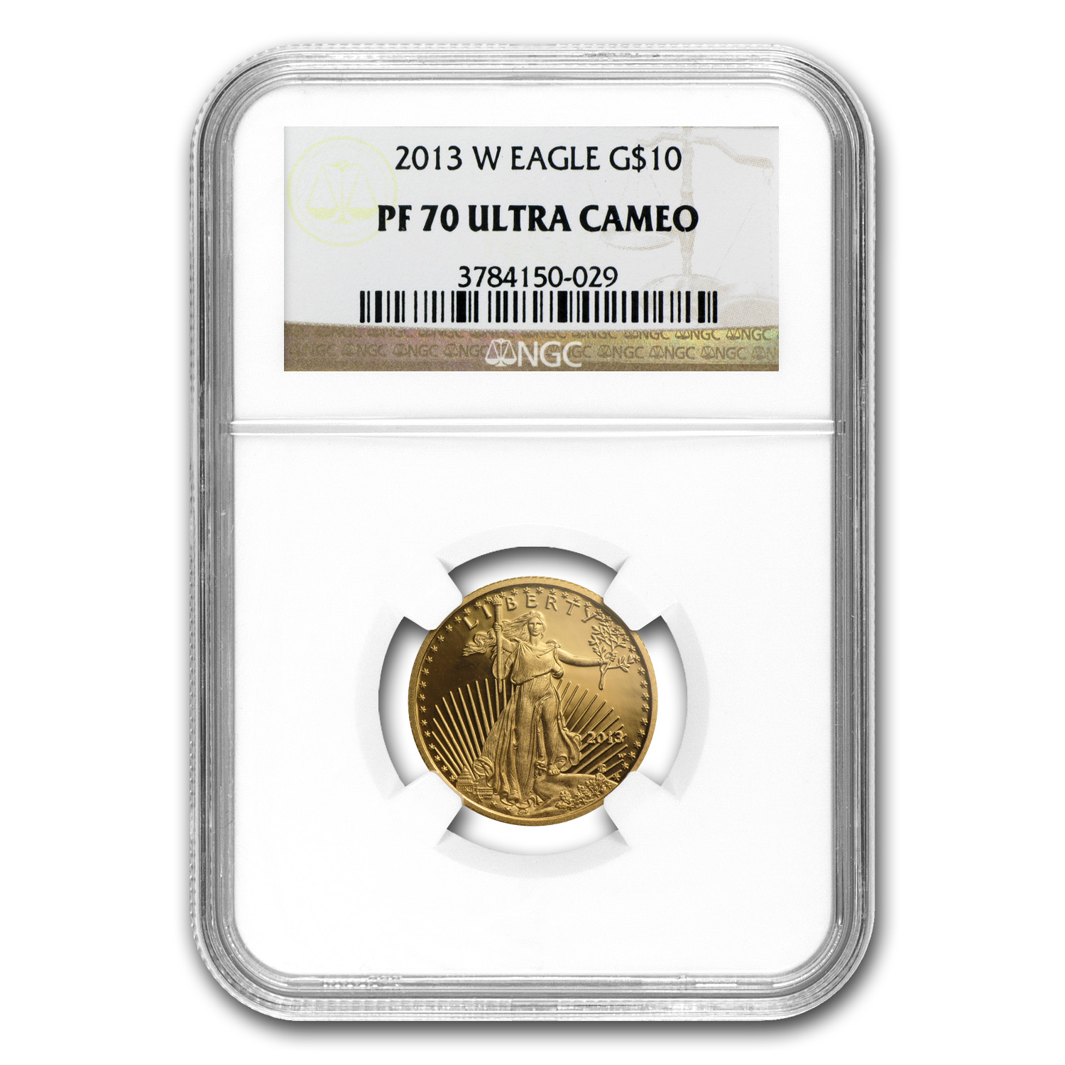 2013-W 1/4 oz Proof Gold American Eagle PF-70 UCAM NGC