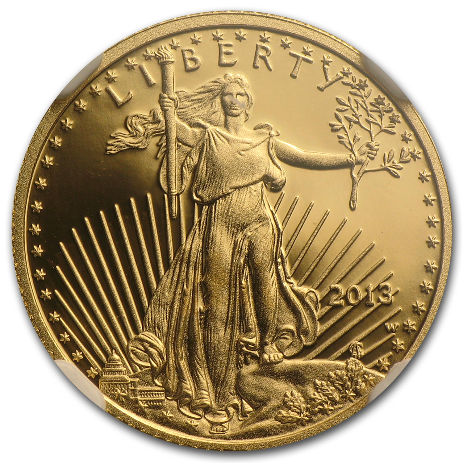 2013-W 1/10 oz Proof Gold American Eagle PF-70 NGC