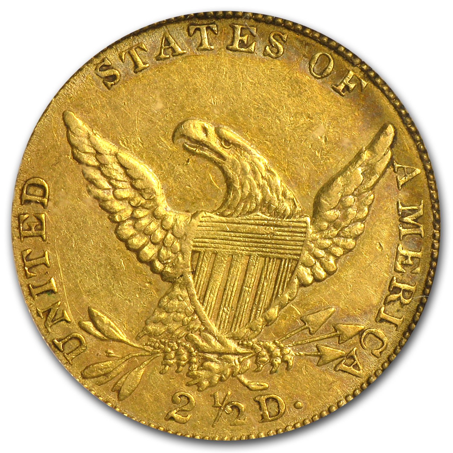 1835 $2.50 Gold Classic Head Extra Fine
