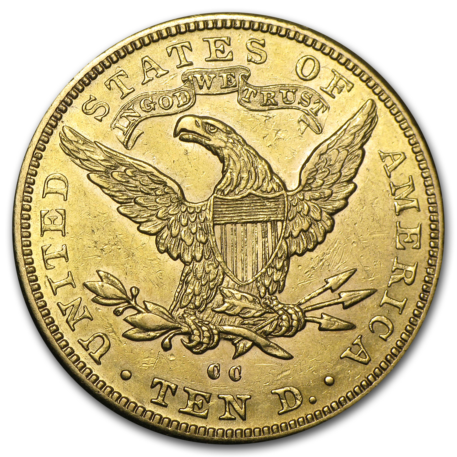 1891-CC $10 Liberty Gold Eagle AU