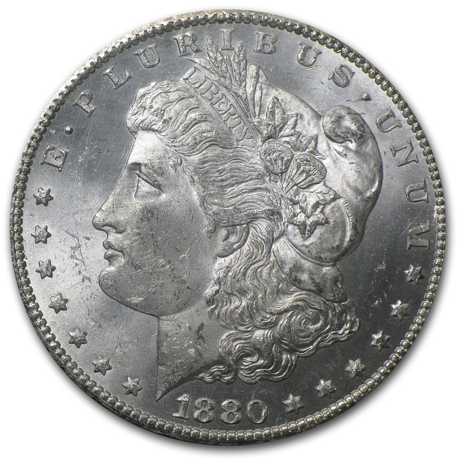 1880-CC Morgan Dollar MS-63 PCGS (VAM-5, 8/High 7, GSA Certified)