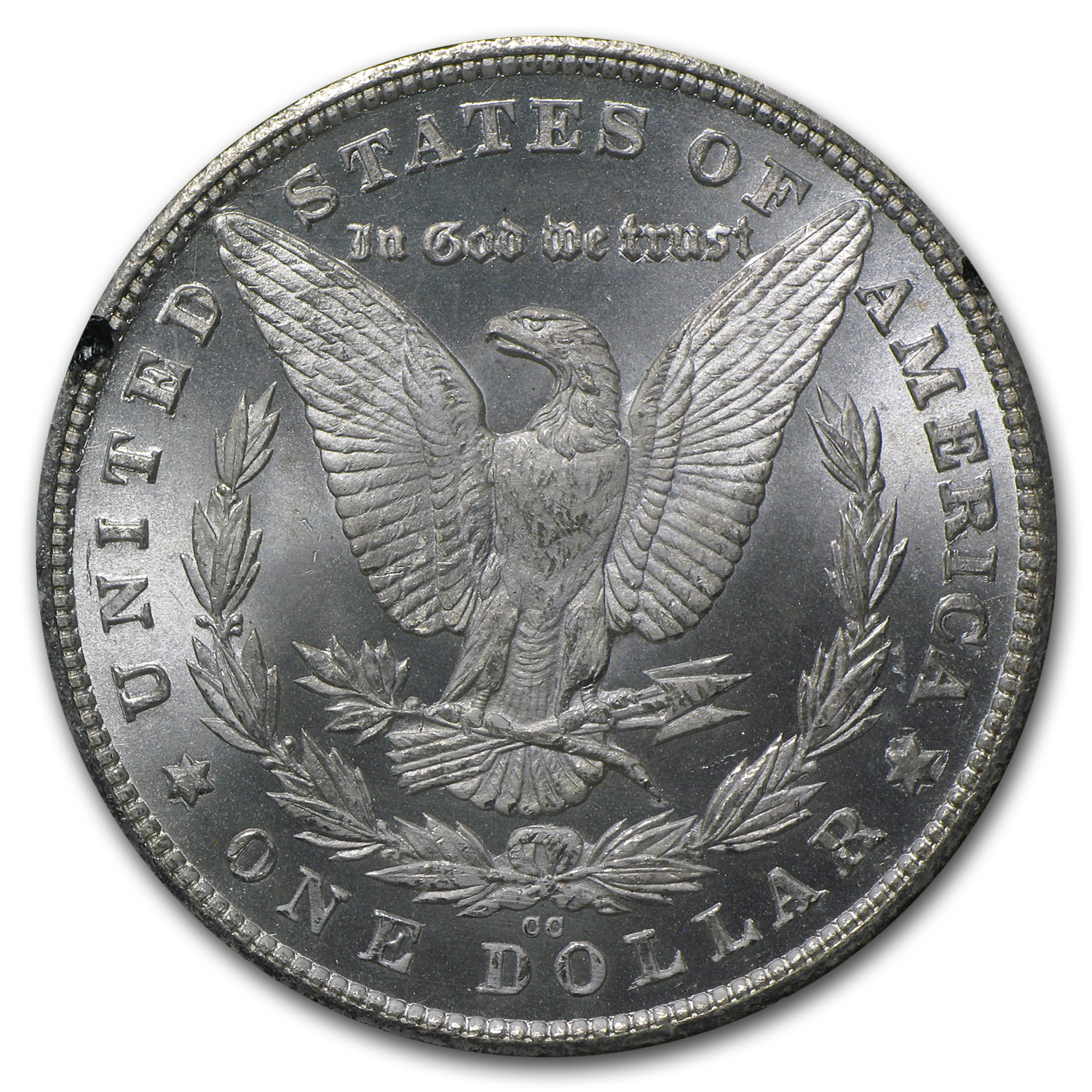 1880-CC Morgan Dollar MS-63 PCGS (VAM-5, 8/High 7, GSA)